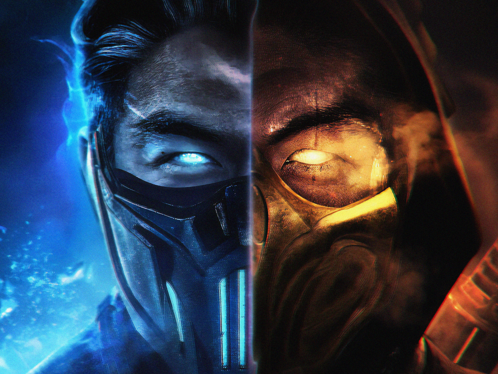 1600x1200 Mortal Kombat Subzero And Scorpion 1600x1200