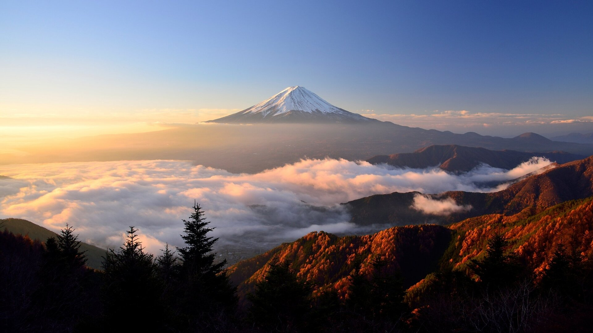 Mount Fuji Hd Qhd