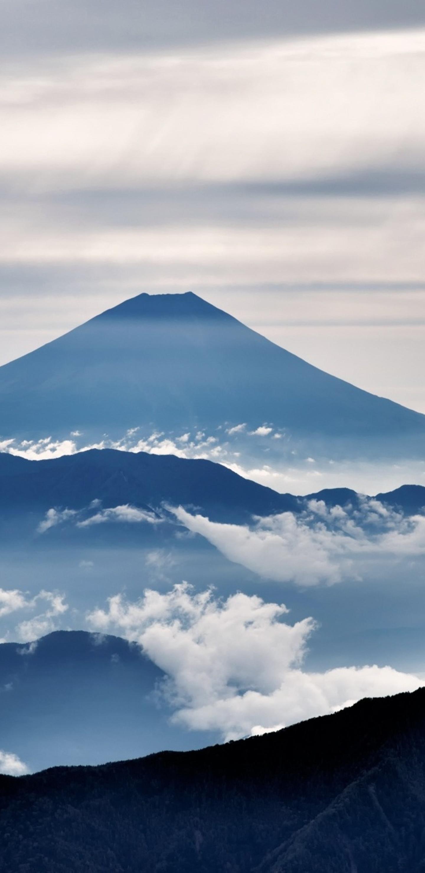 1440x2960 mount fuji landscape clouds samsung galaxy note 9,8, s9,s8