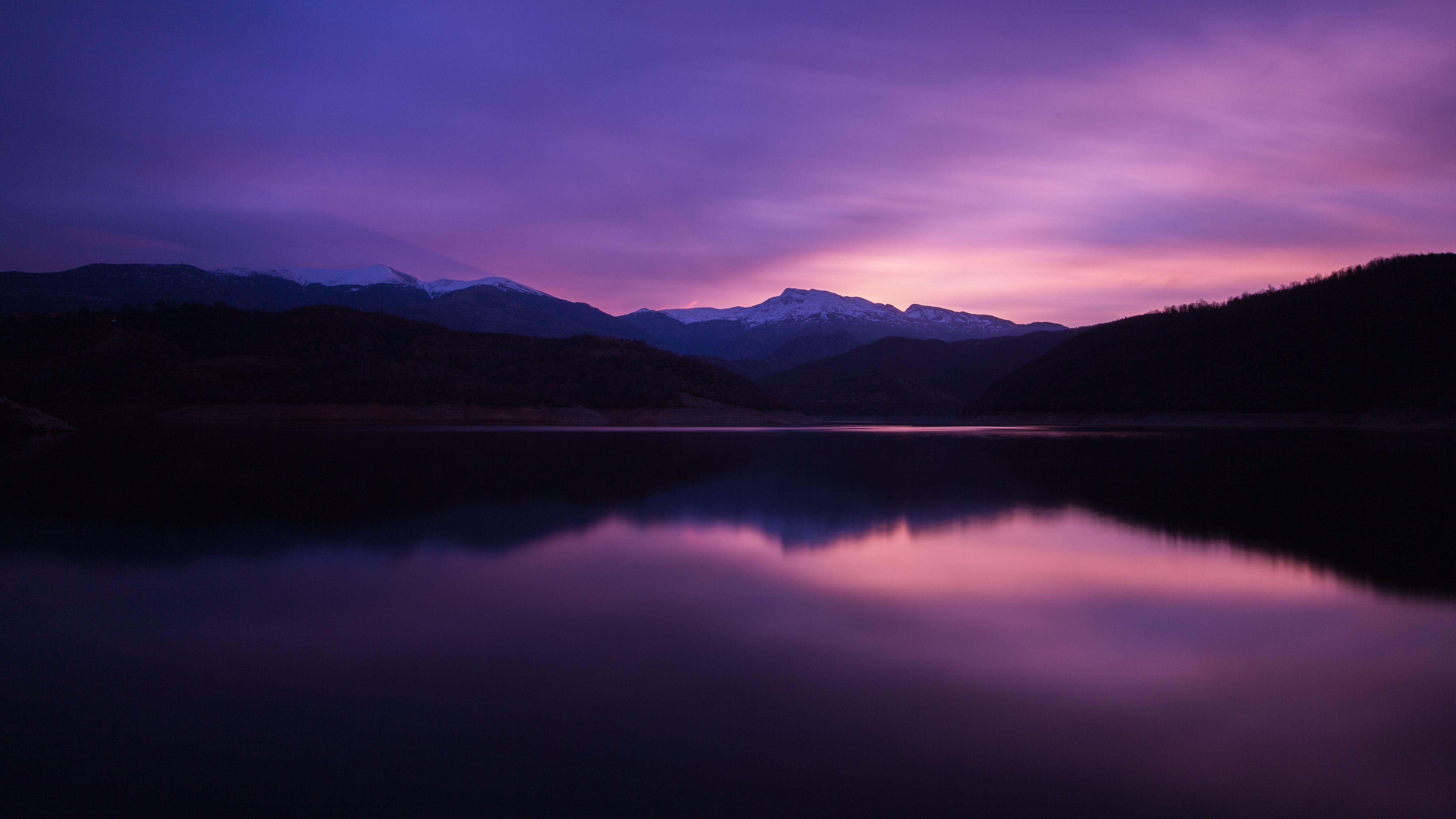 5120x2880 mountain lake night reflection 5k 5k hd 4k - Night mountain wallpaper 4k ...