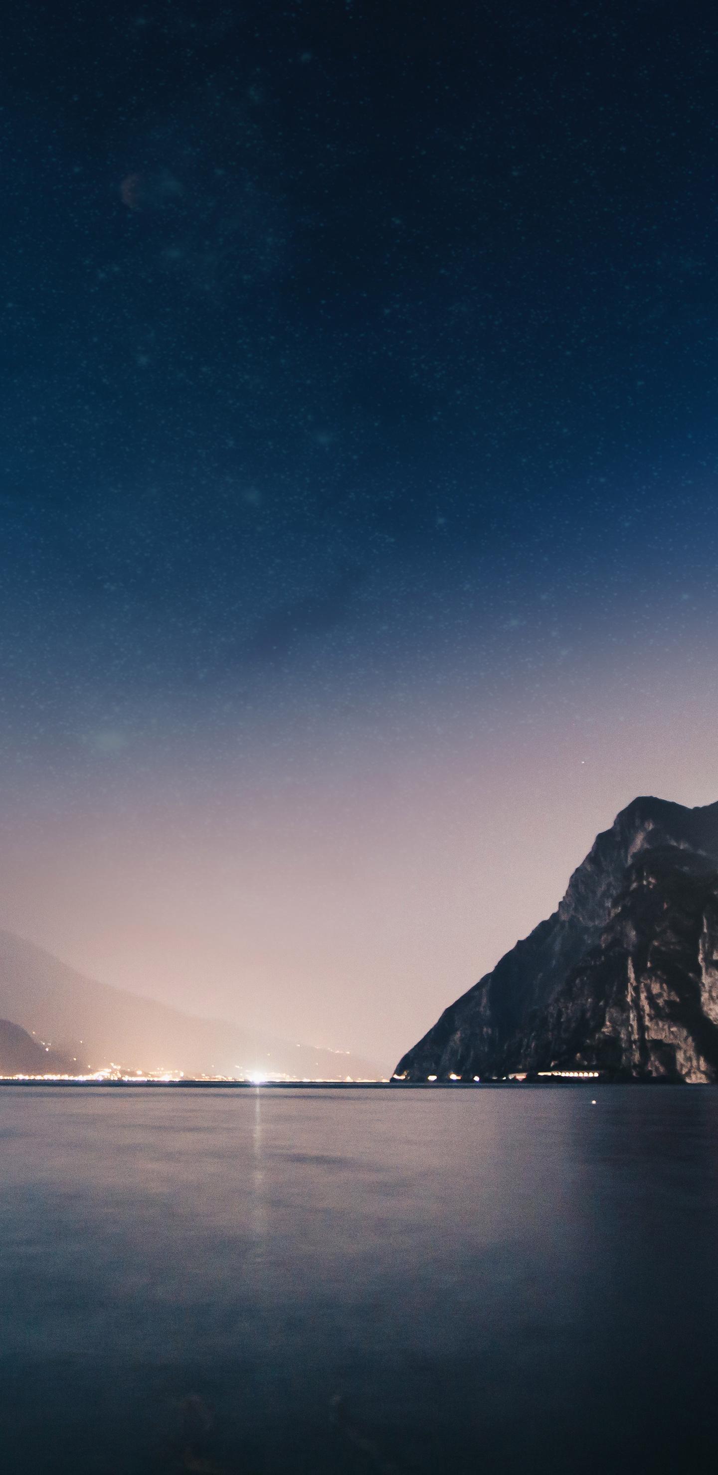 1440x2960 mountains night sea 4k 5k samsung galaxy note 9 - Night mountain wallpaper 4k ...