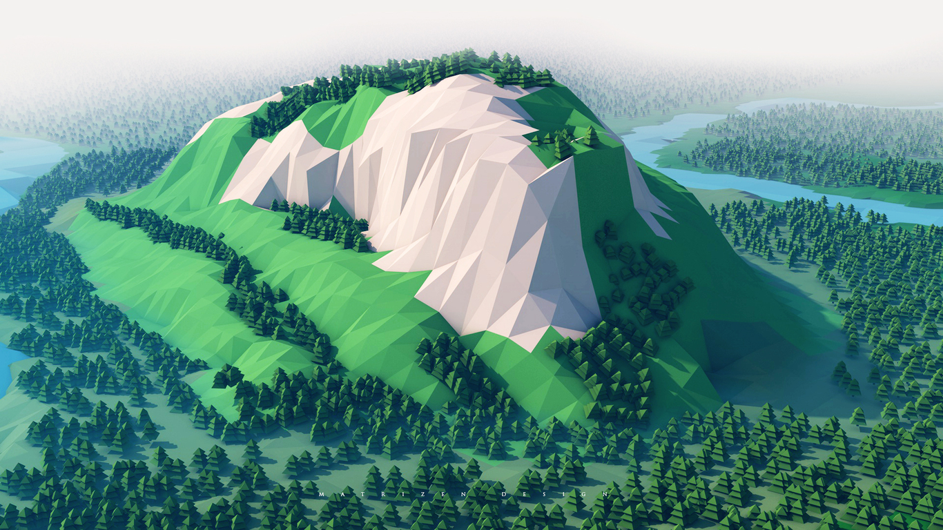 mountains-trees-forest-3d-minimalism-ku.jpg