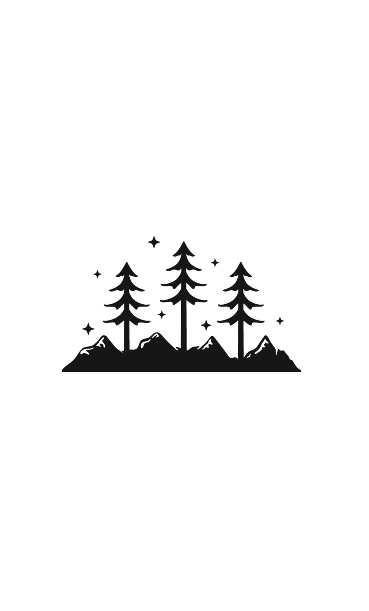 Mountains Trees Minimalism 6x