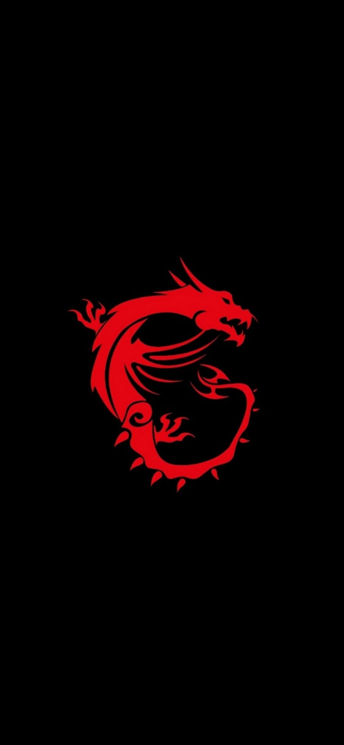 1125x2436 msi dragon logo iphone xs,iphone 10,iphone x hd 4k