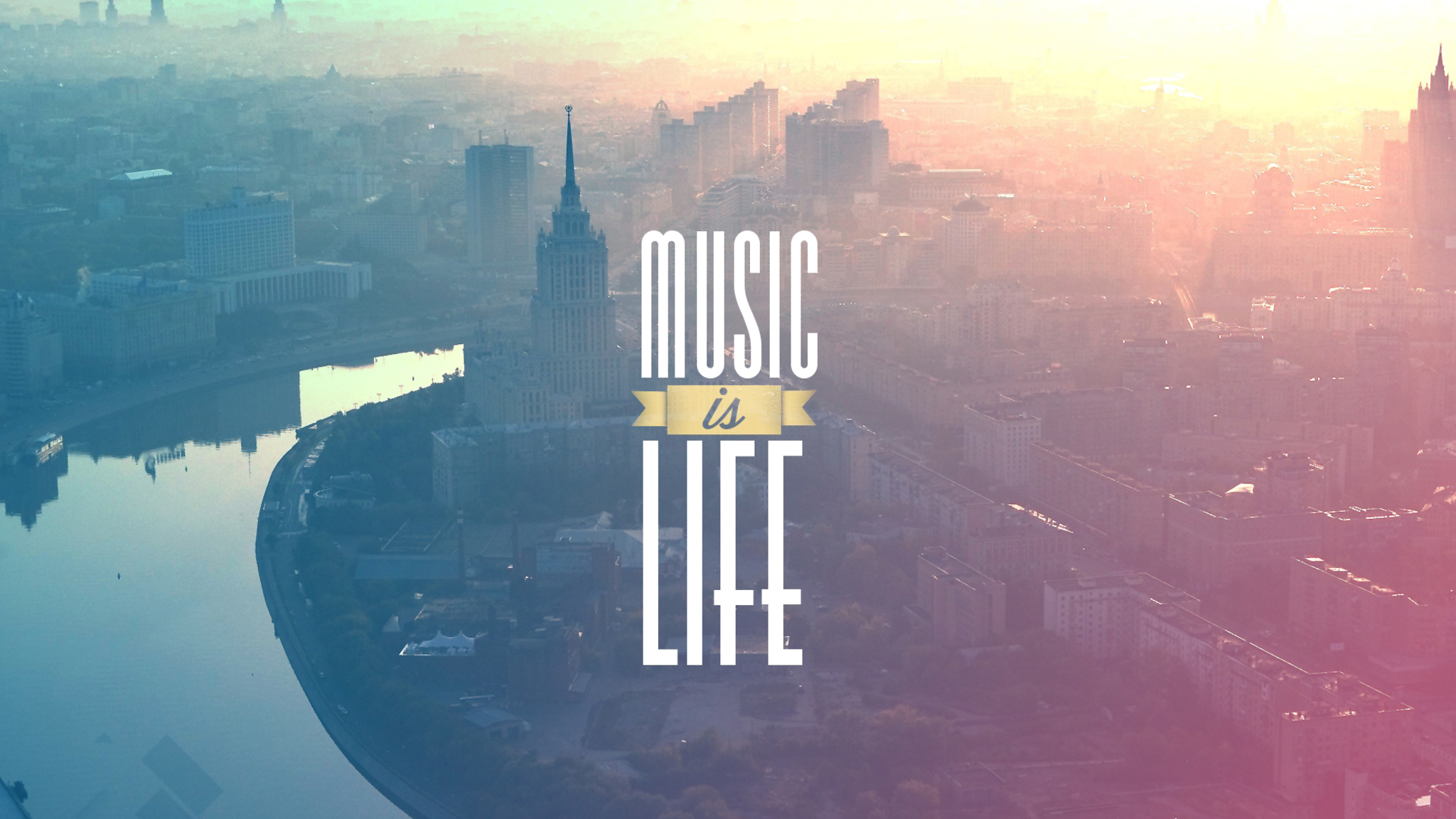 Download Music is My LIfe HD 4k Wallpapers In 2048x1152 Screen Resolution