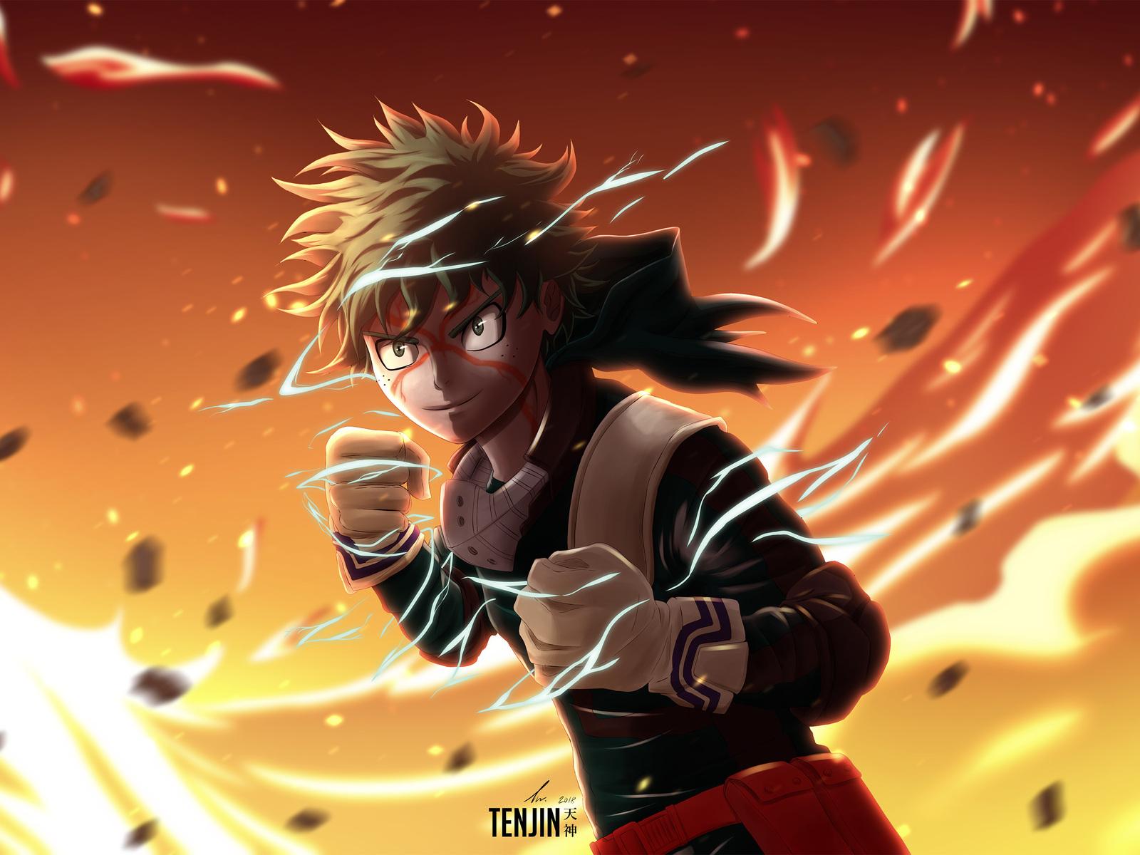 1600x1200 My Hero Academia Izuku Midoriya 4k 1600x1200 Resolution