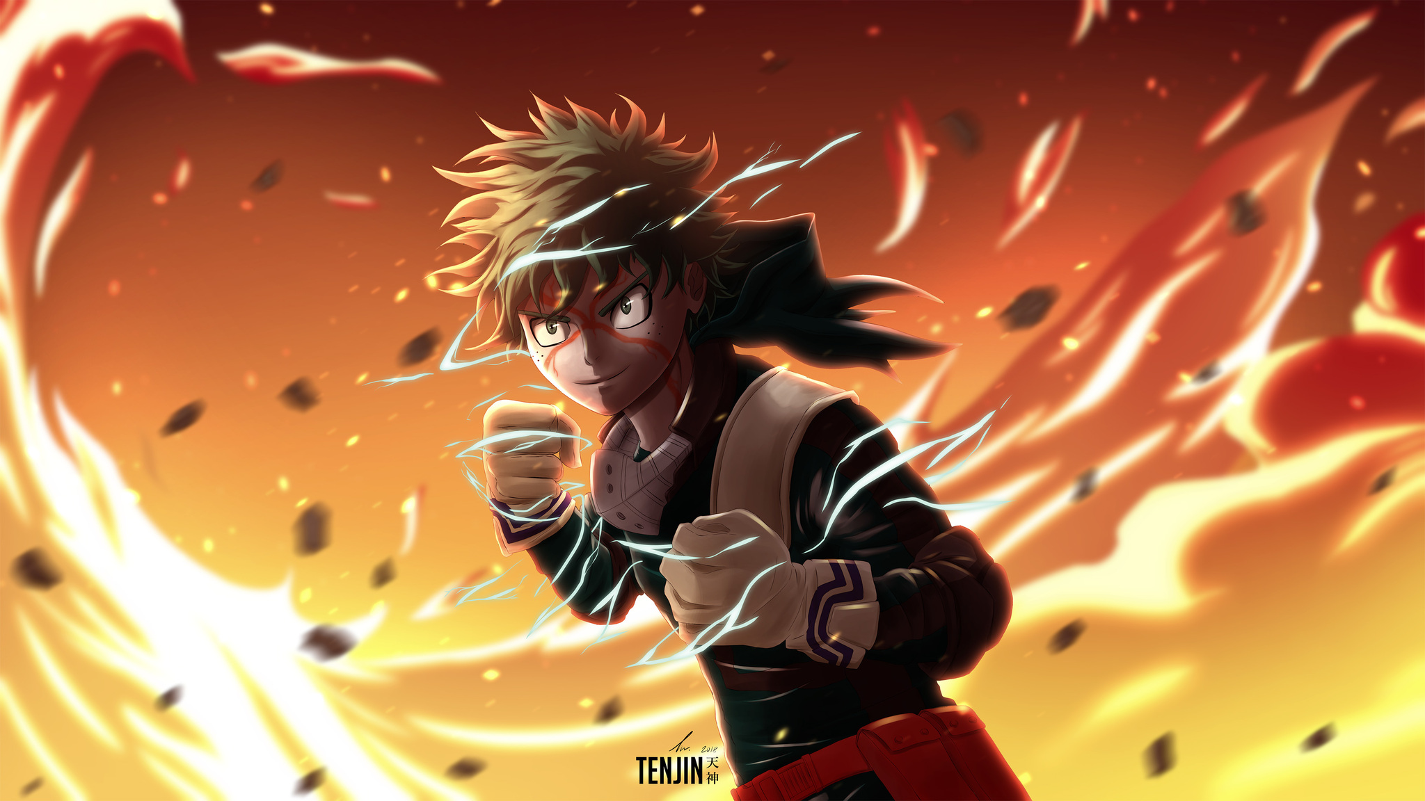 2048x1152 My Hero Academia Izuku Midoriya 4k 2048x1152