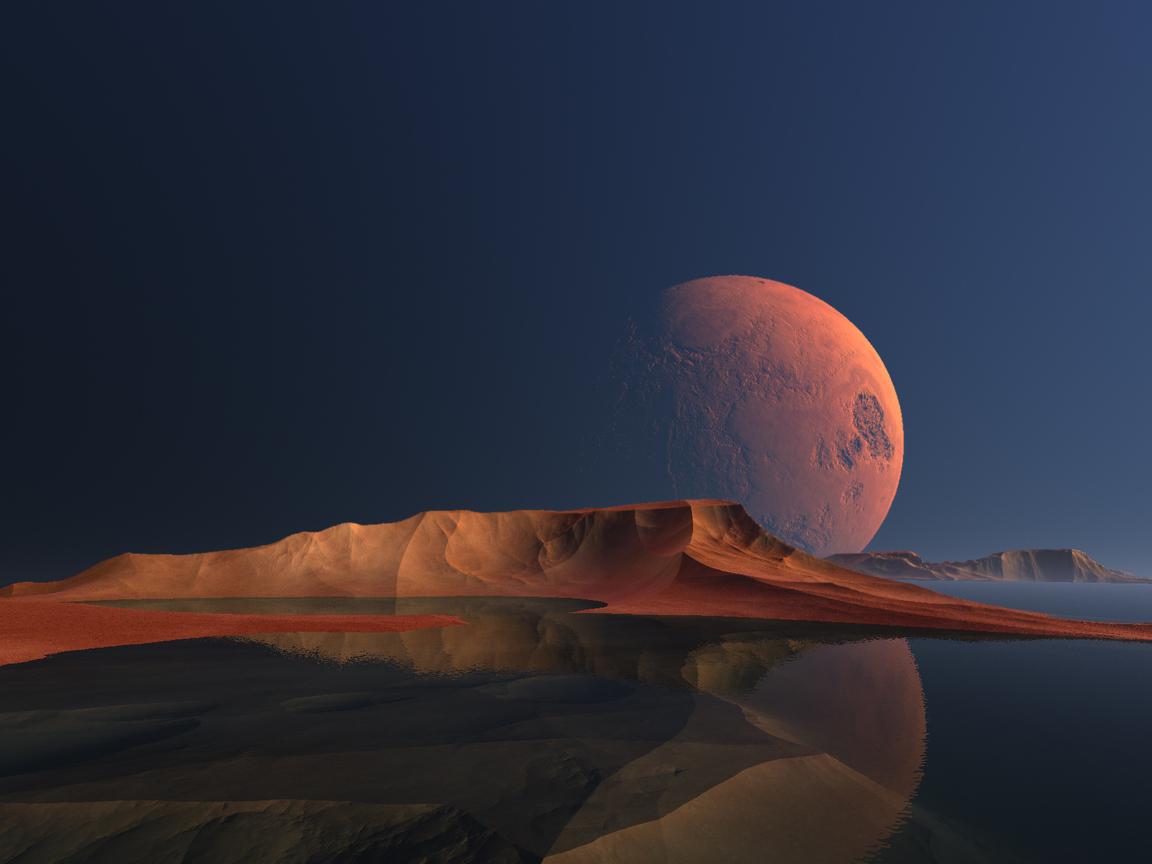 Nature Landscape Digital Scenery Scifi Art 1x