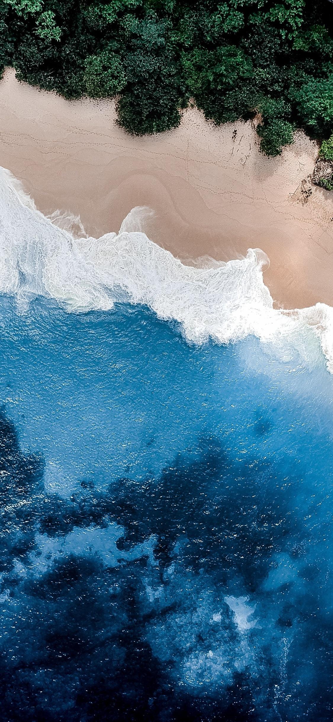 4k iphone x wallpaper beach