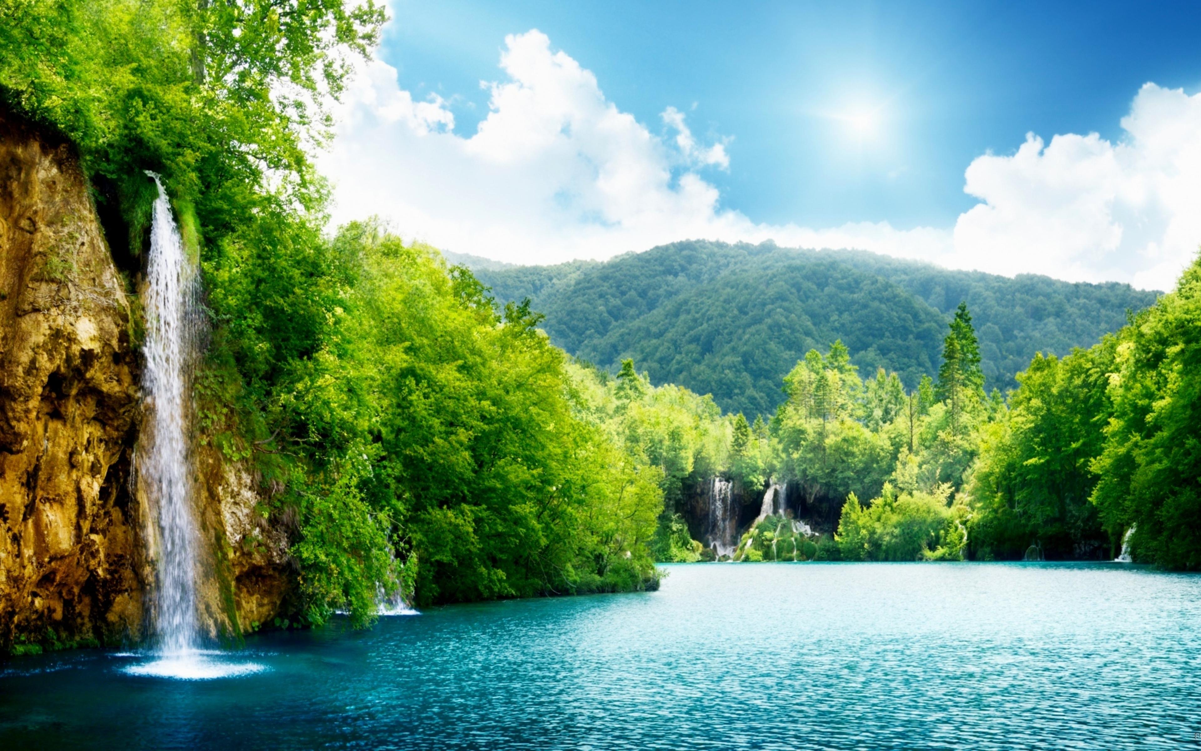 Водопад река без смс