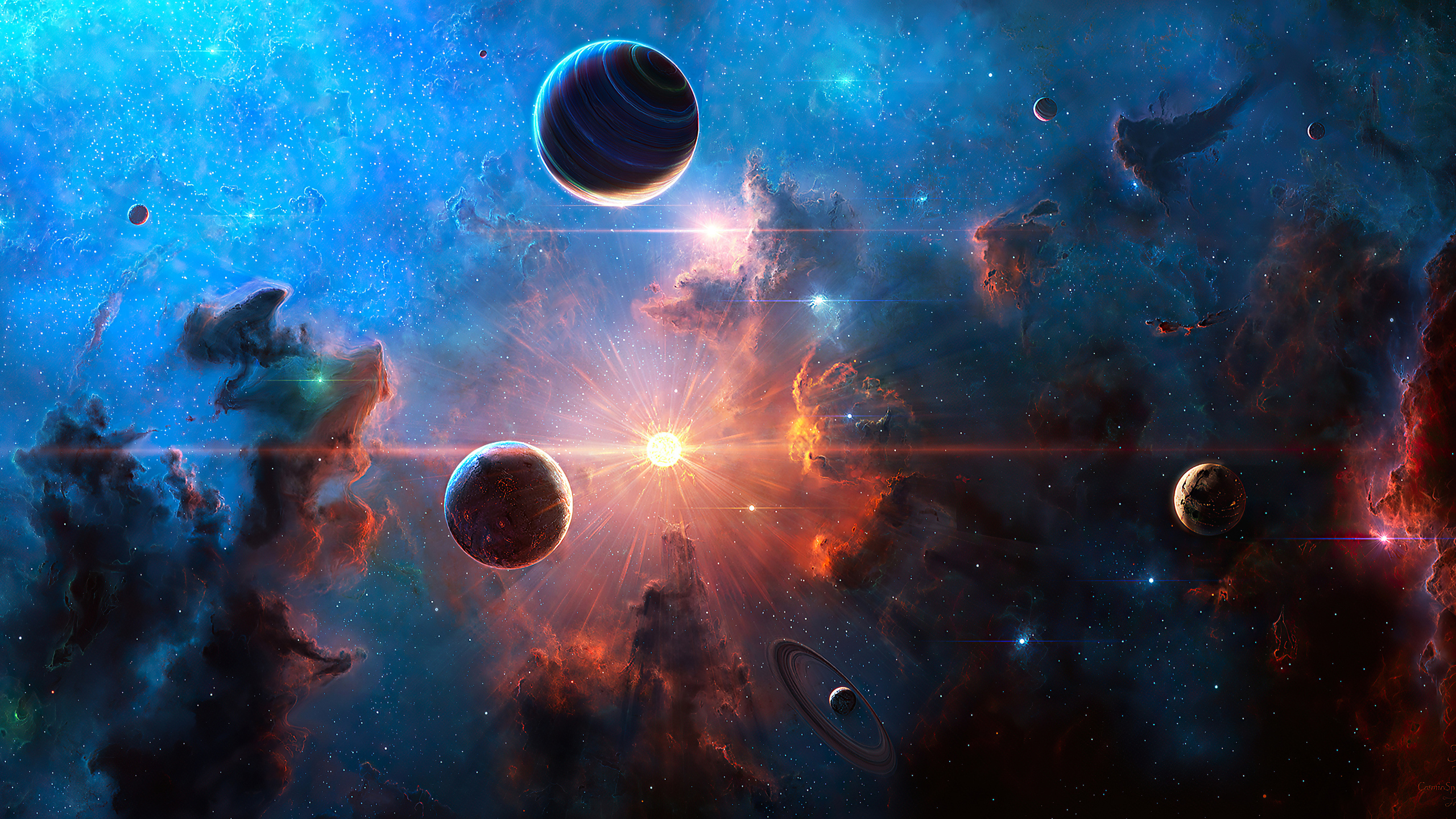2560x1440 Neblua Space Planet Art 4k 1440P Resolution HD 4k Wallpapers, Images, Backgrounds ...