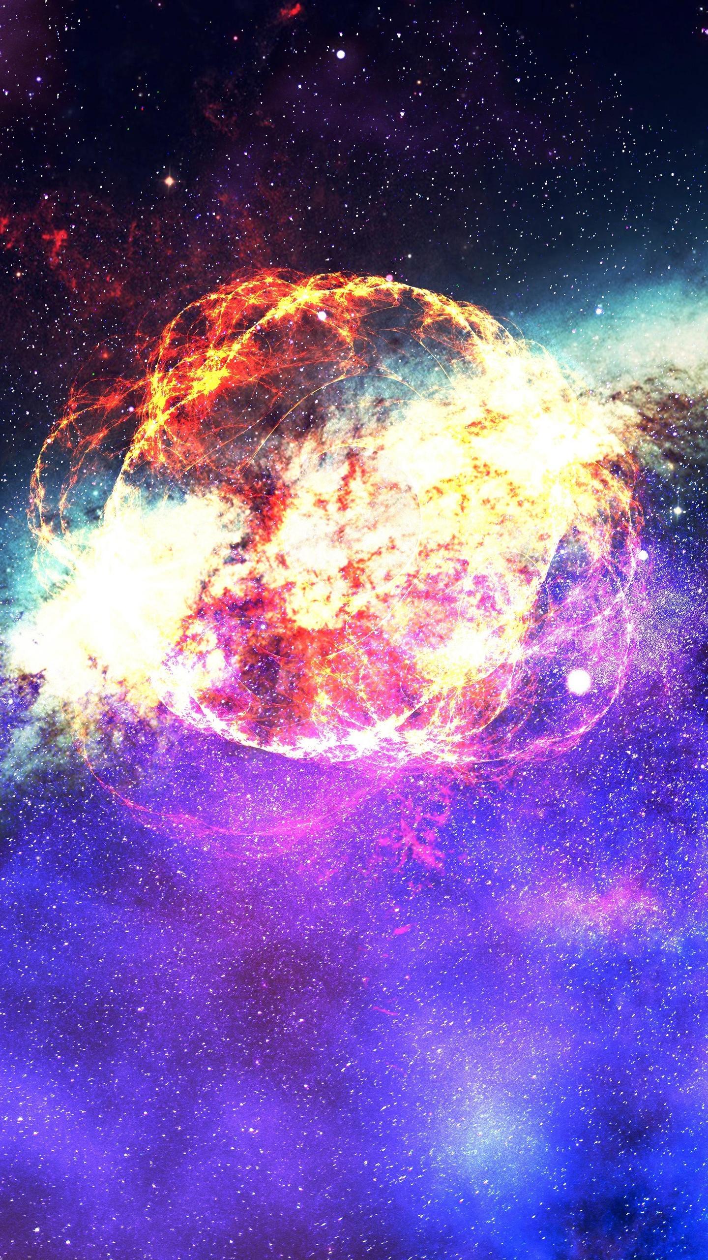 1440x2560 Nebula Galaxy Outer Space Samsung Galaxy S6,S7 ...