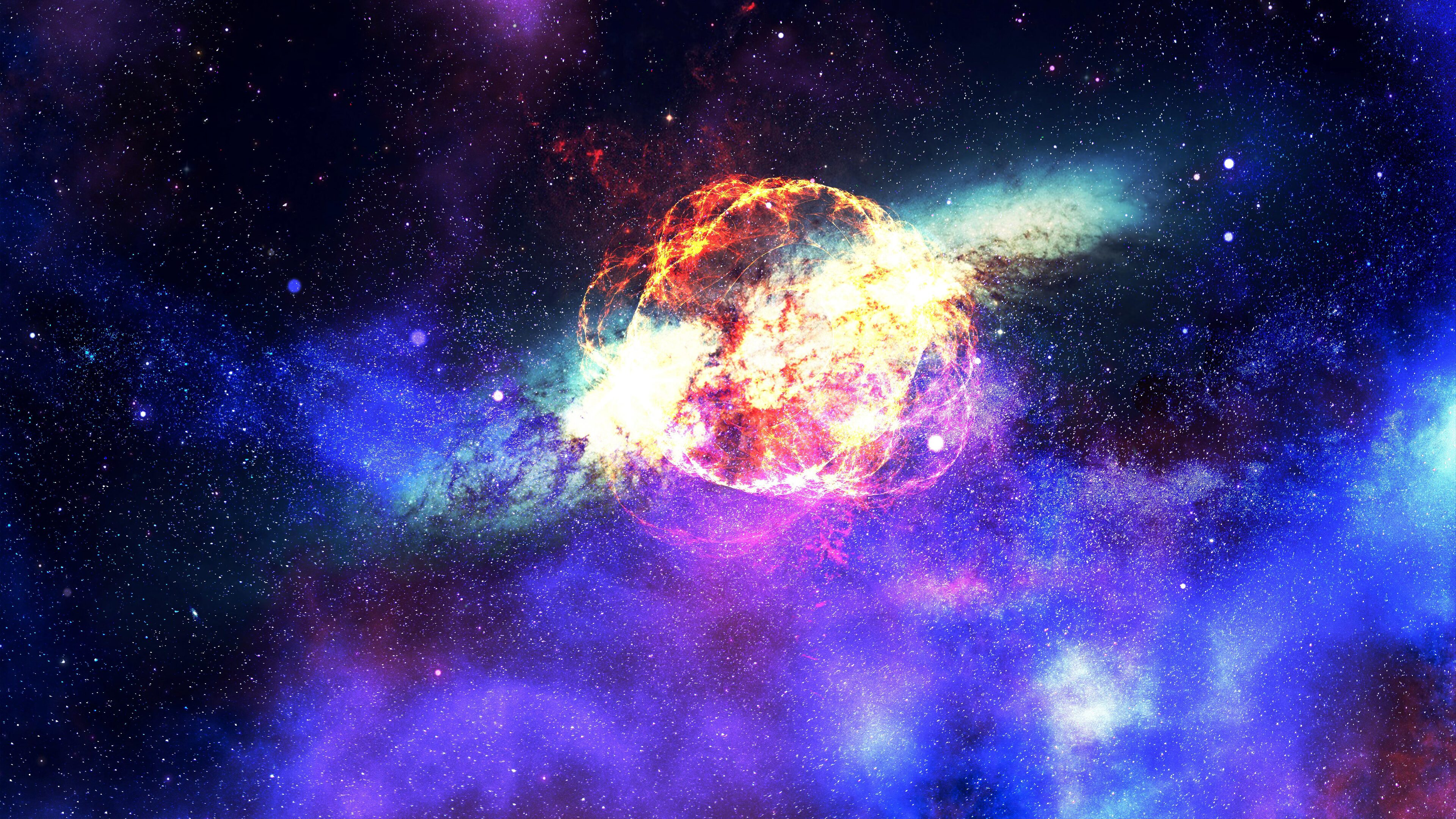 3840x2160 Nebula Galaxy Outer Space 4k HD 4k Wallpapers ...