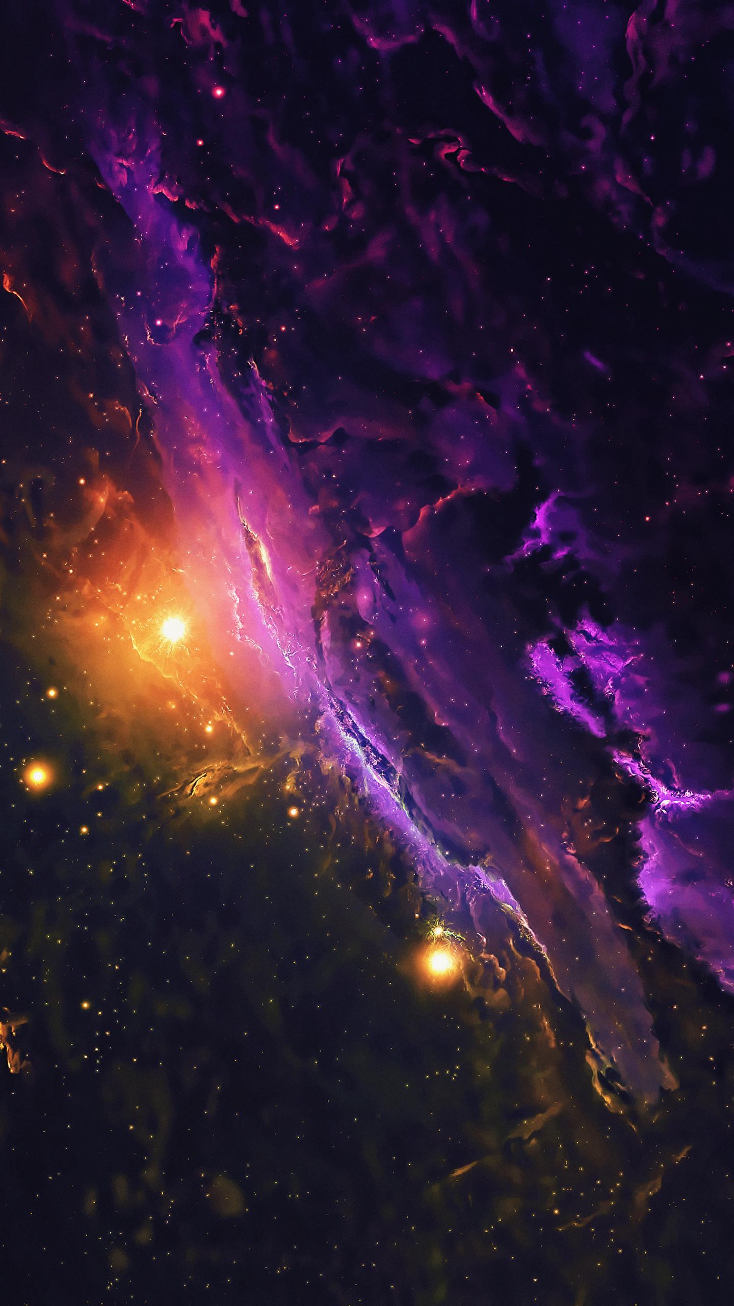 1440x2560 Nebula Galaxy Space Stars Universe 4k Samsung