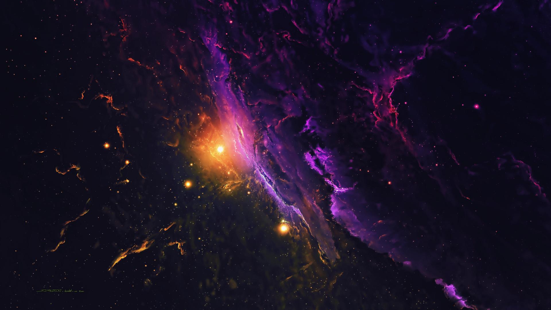 1920x1080 Nebula Galaxy Space Stars Universe 4k Laptop ...