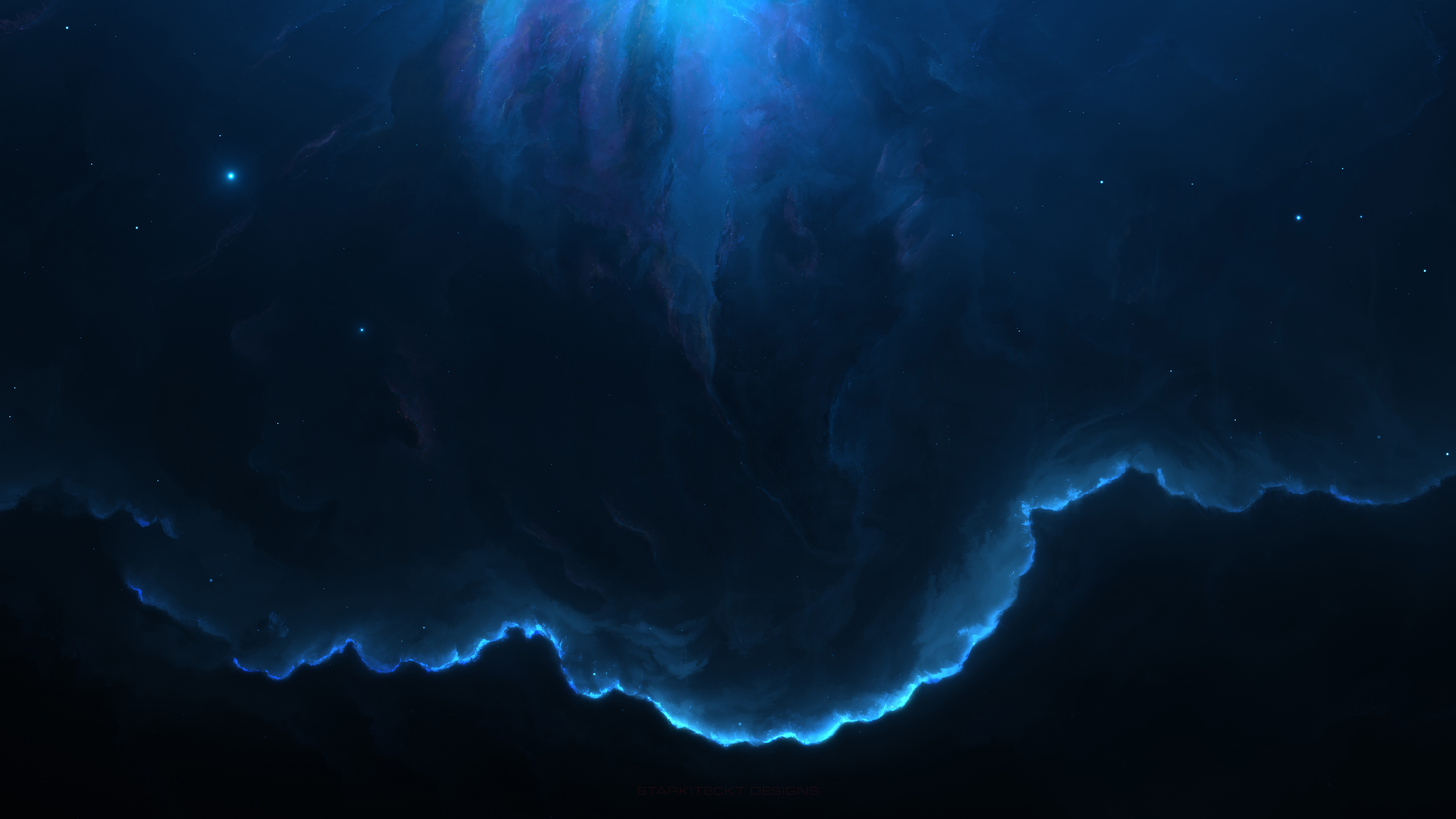 7680x4320 Nebula Space Blue 12k 8k HD 4k Wallpapers