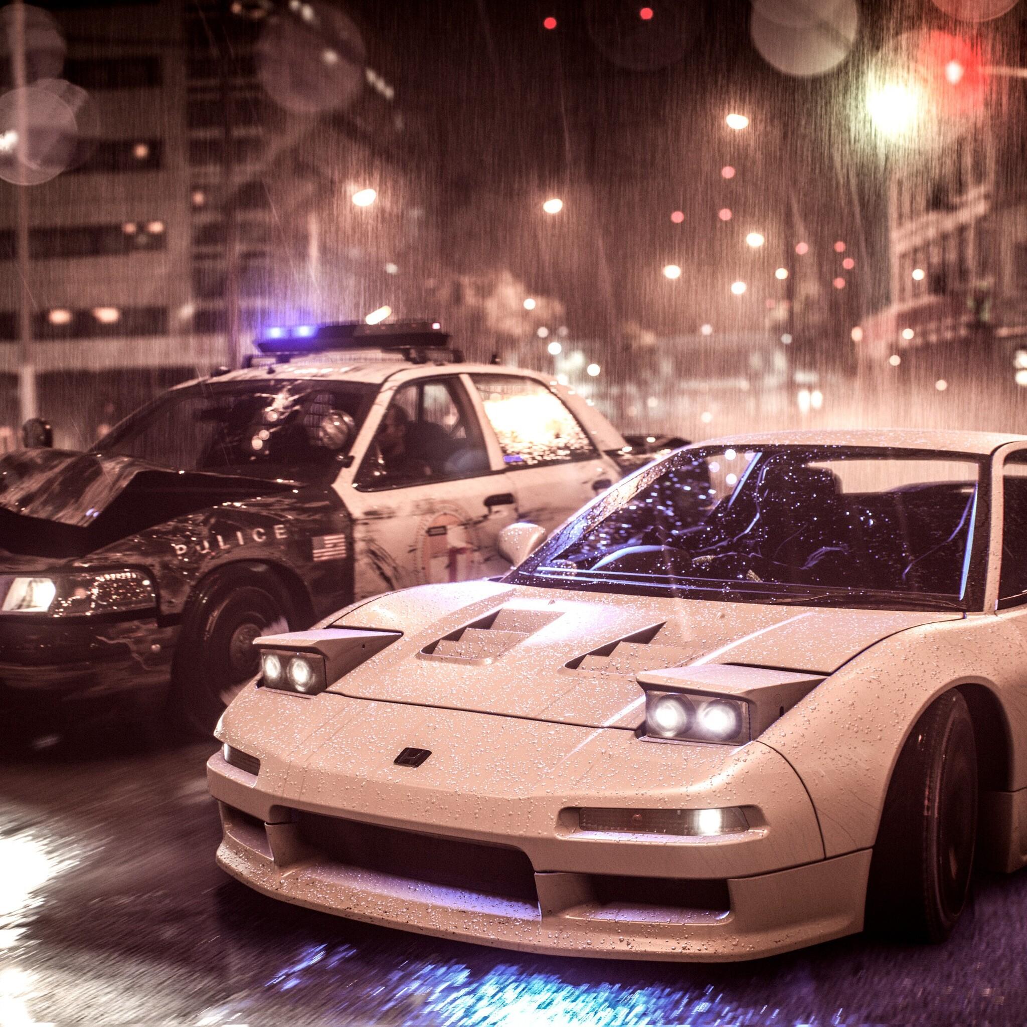 2048x2048 Need For Speed Acura Nsx Vs Police Car 4k Ipad Air Hd 4k