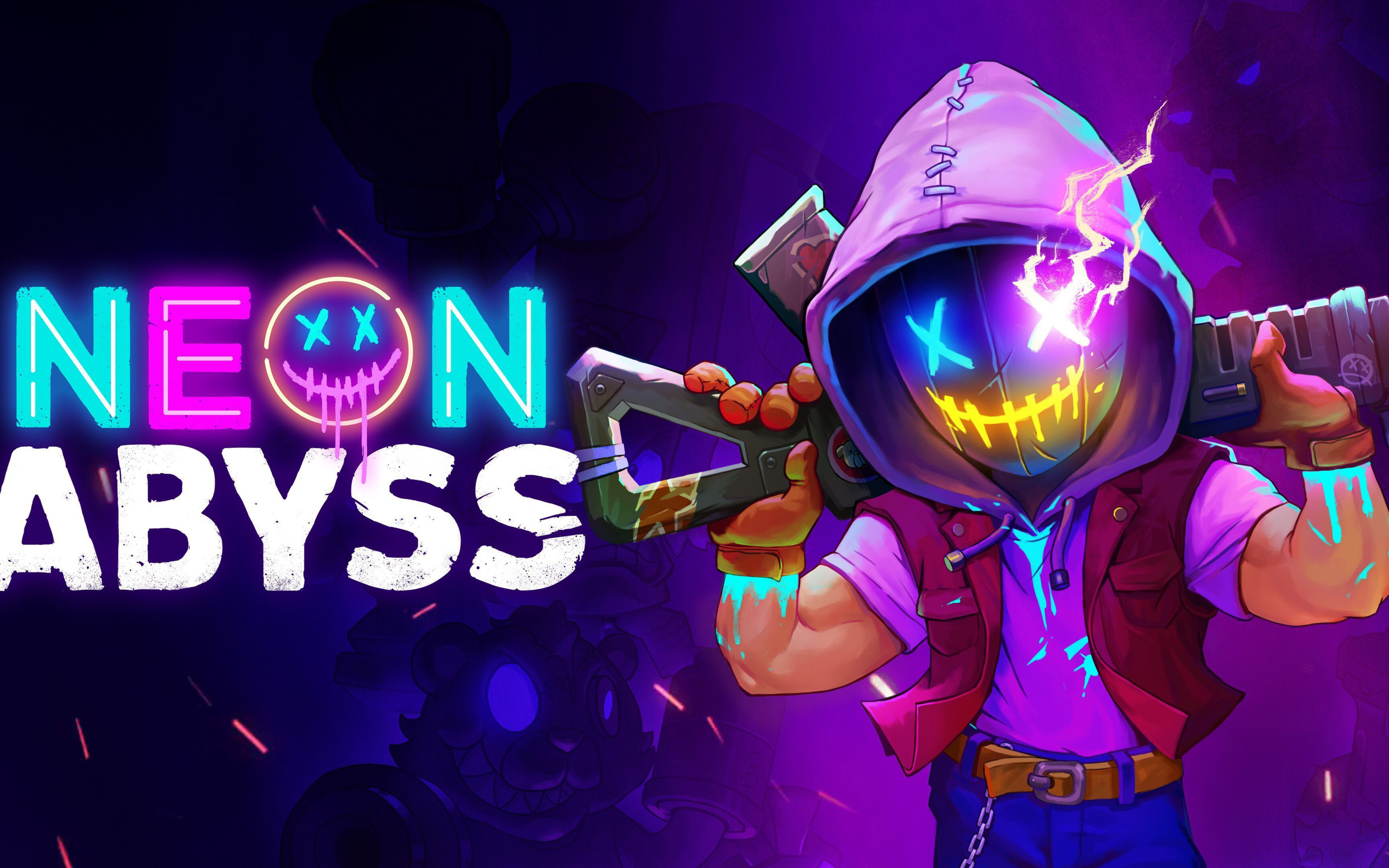 3840x2400 Neon Abyss Game 4k Hd 4k Wallpapers Images Backgrounds Photos And Pictures