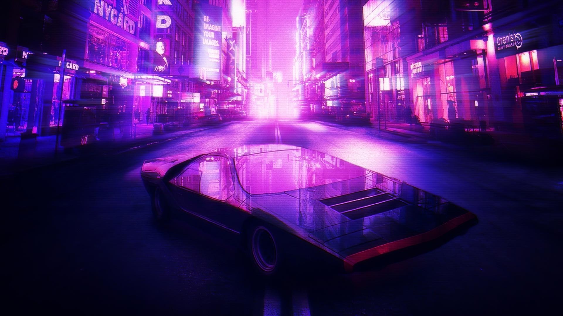 1920x1080 Neon City Car 4k Laptop Full HD 1080P HD 4k ...