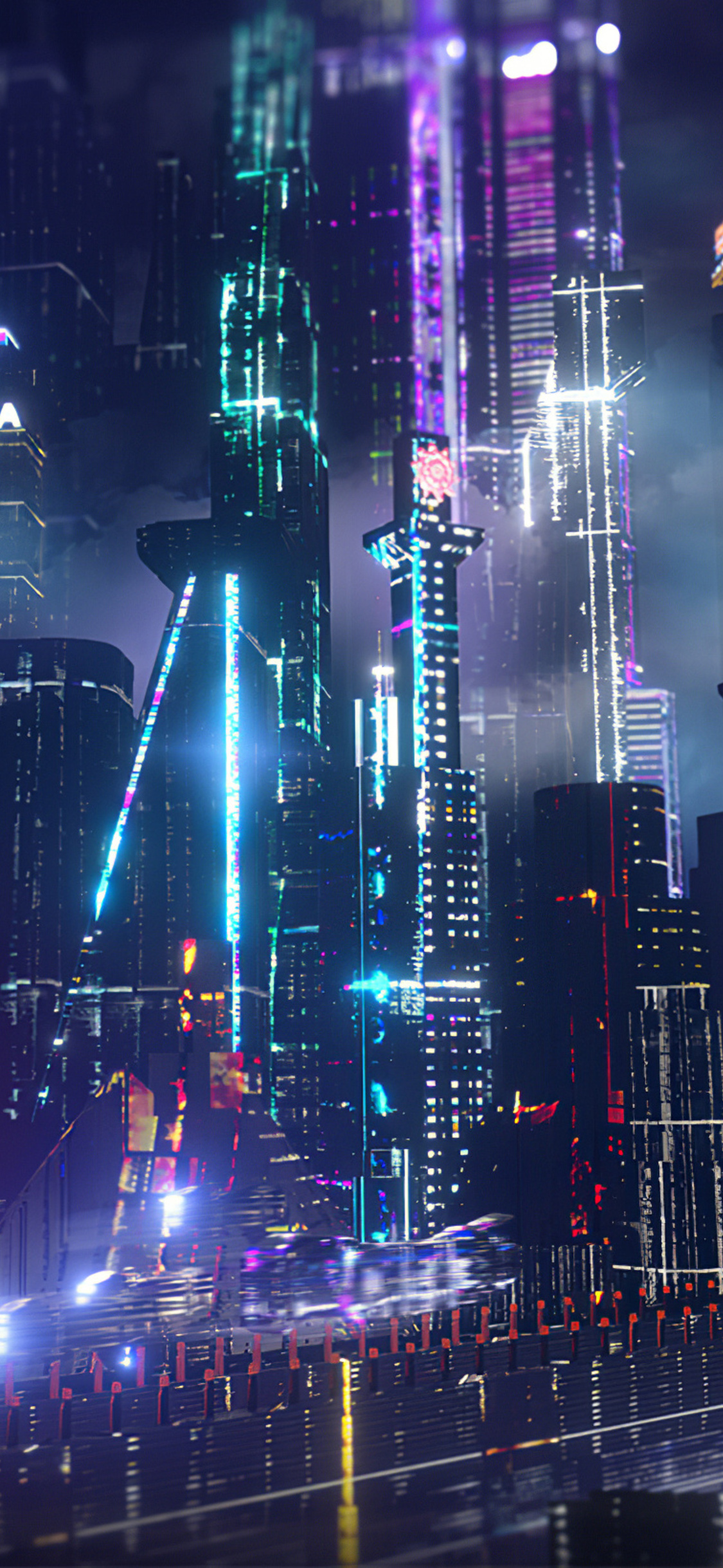 1125x2436 Neon City Lights 4k Iphone Xs Iphone 10 Iphone X Hd 4k Wallpapers Images Backgrounds Photos And Pictures
