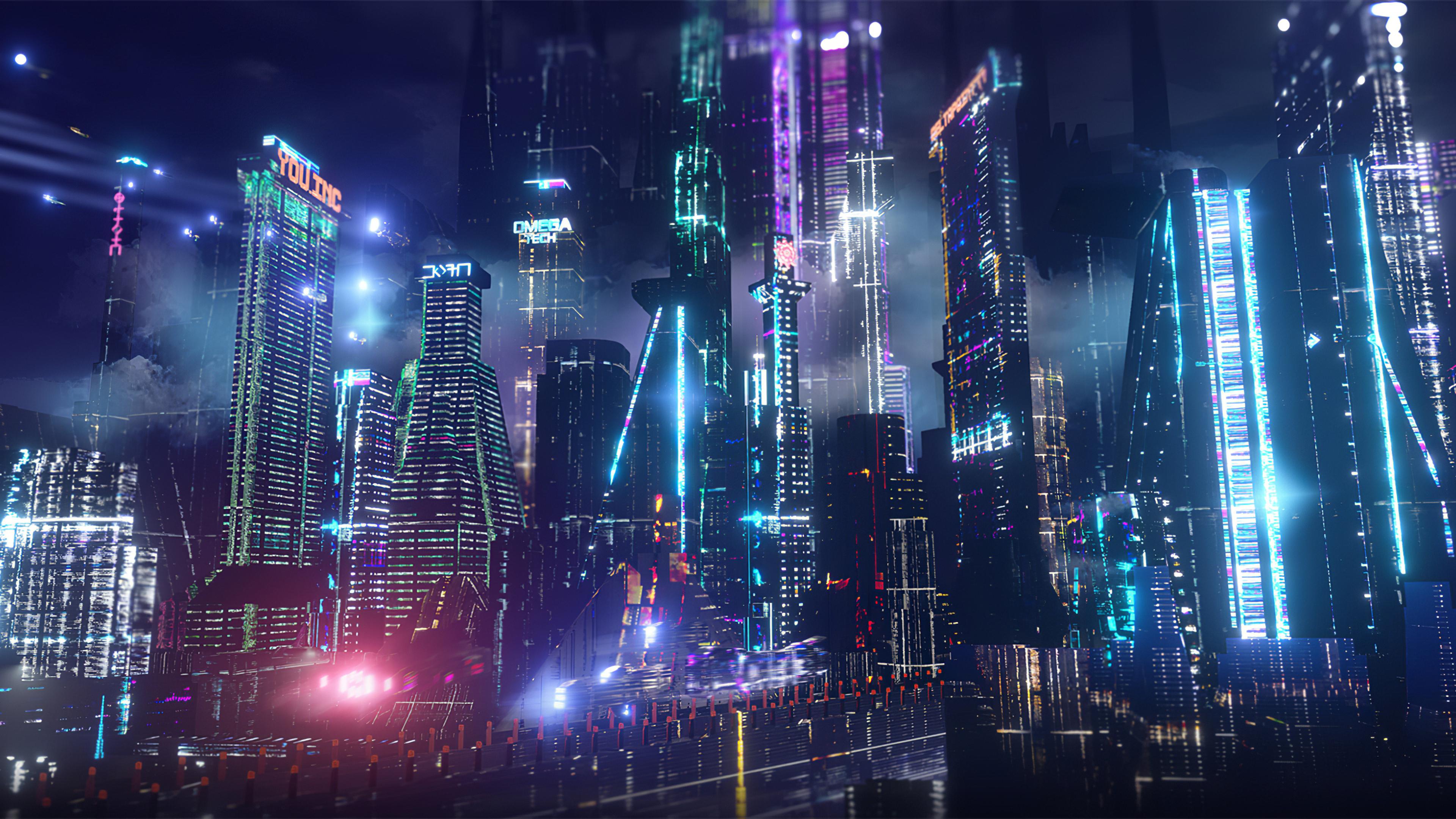 3840x2160 Neon City Lights 4k 4k HD 4k Wallpapers, Images ...