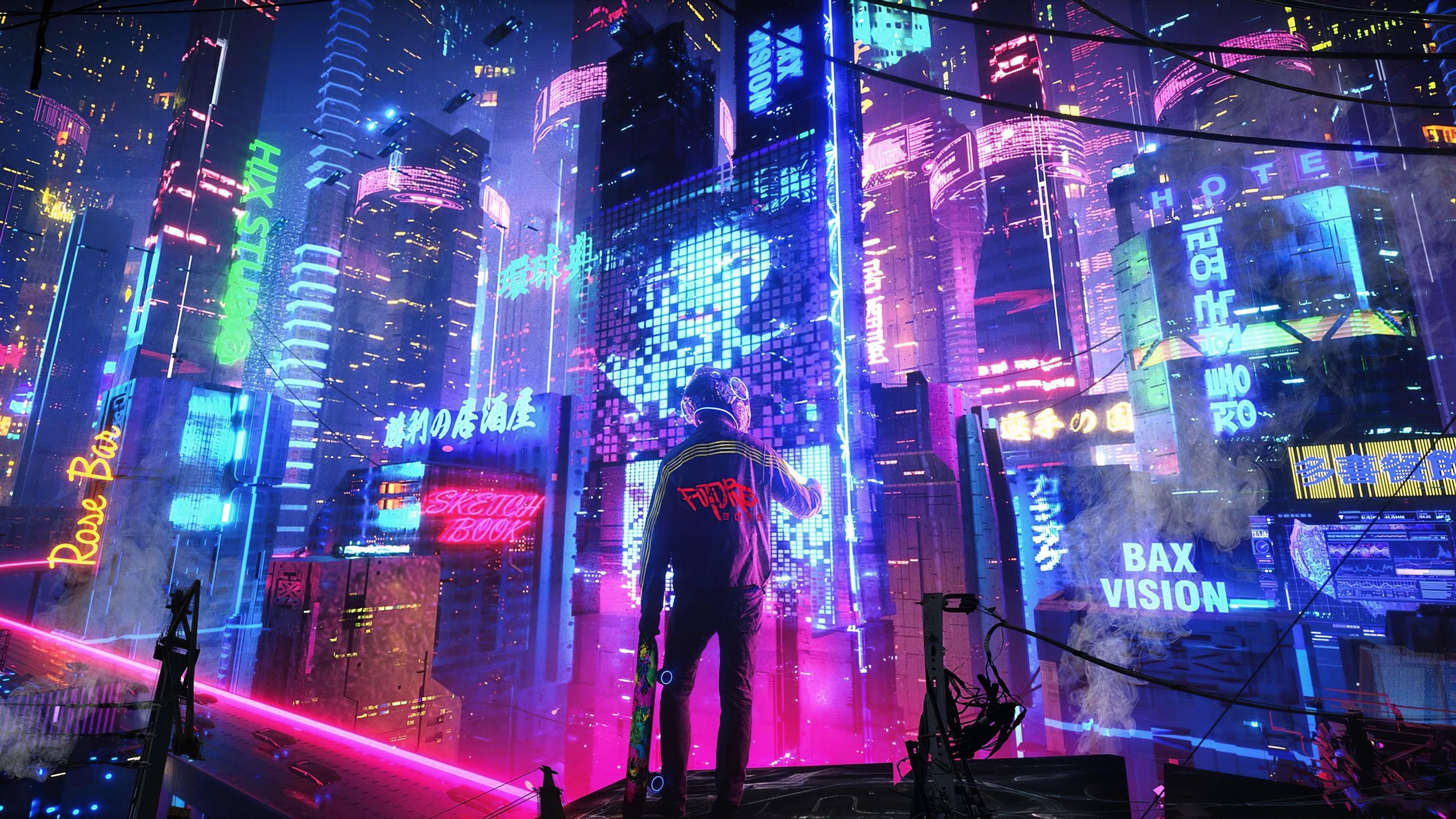 2560x1440 Neon City Pan 4k 1440P Resolution HD 4k ...