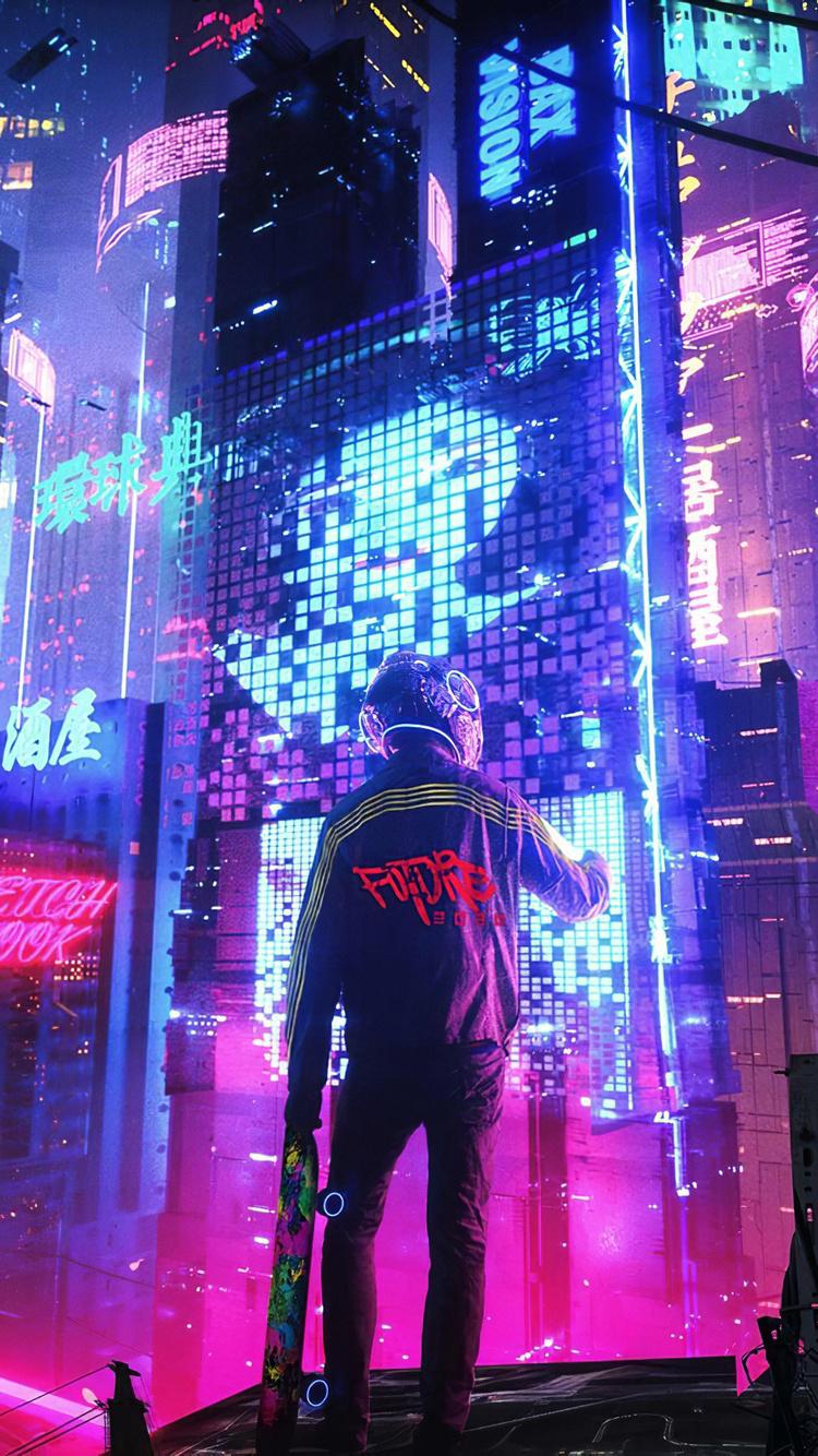 750x1334 Neon City Pan 4k iPhone 6, iPhone 6S, iPhone 7 HD ...