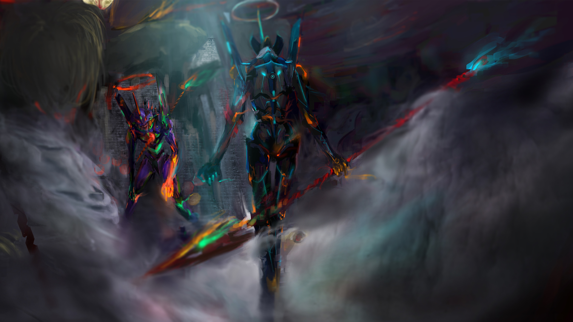 1920x1080 neon genesis evangelion 12k laptop full hd 1080p - Anime background wallpaper 4k ...