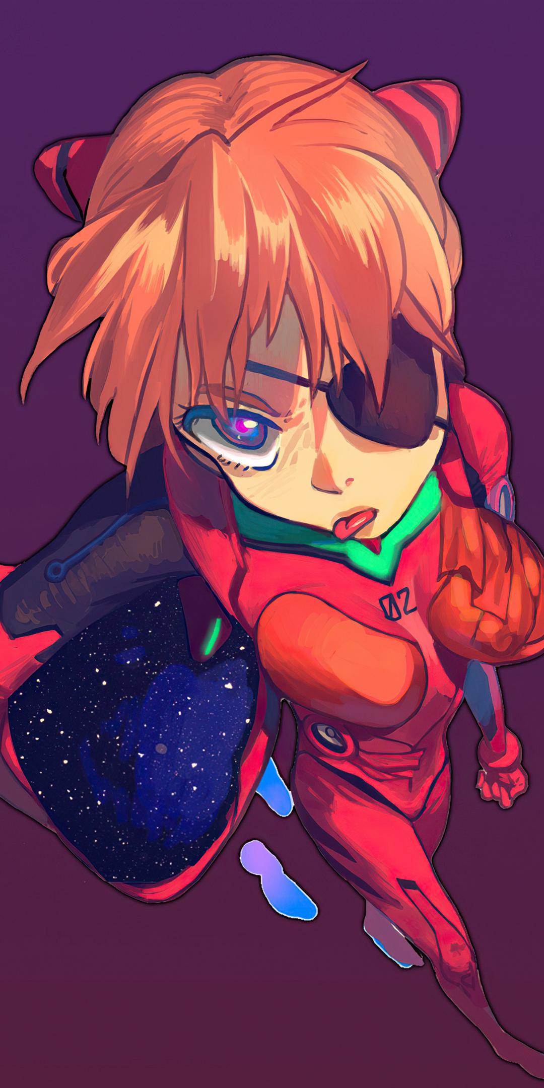 1080x2160 Neon Genesis Evangelion Asuka Langley Soryu 4k ...