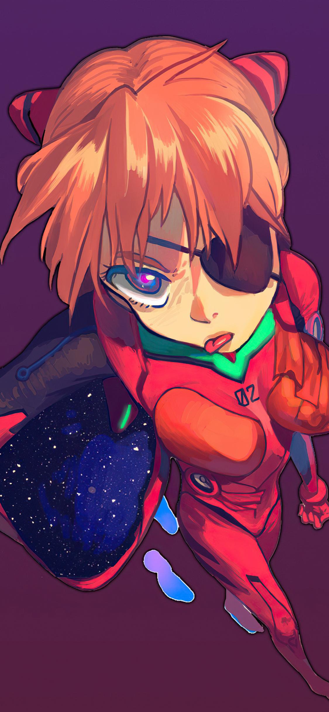 1125x2436 Neon Genesis Evangelion Asuka Langley Soryu 4k ...