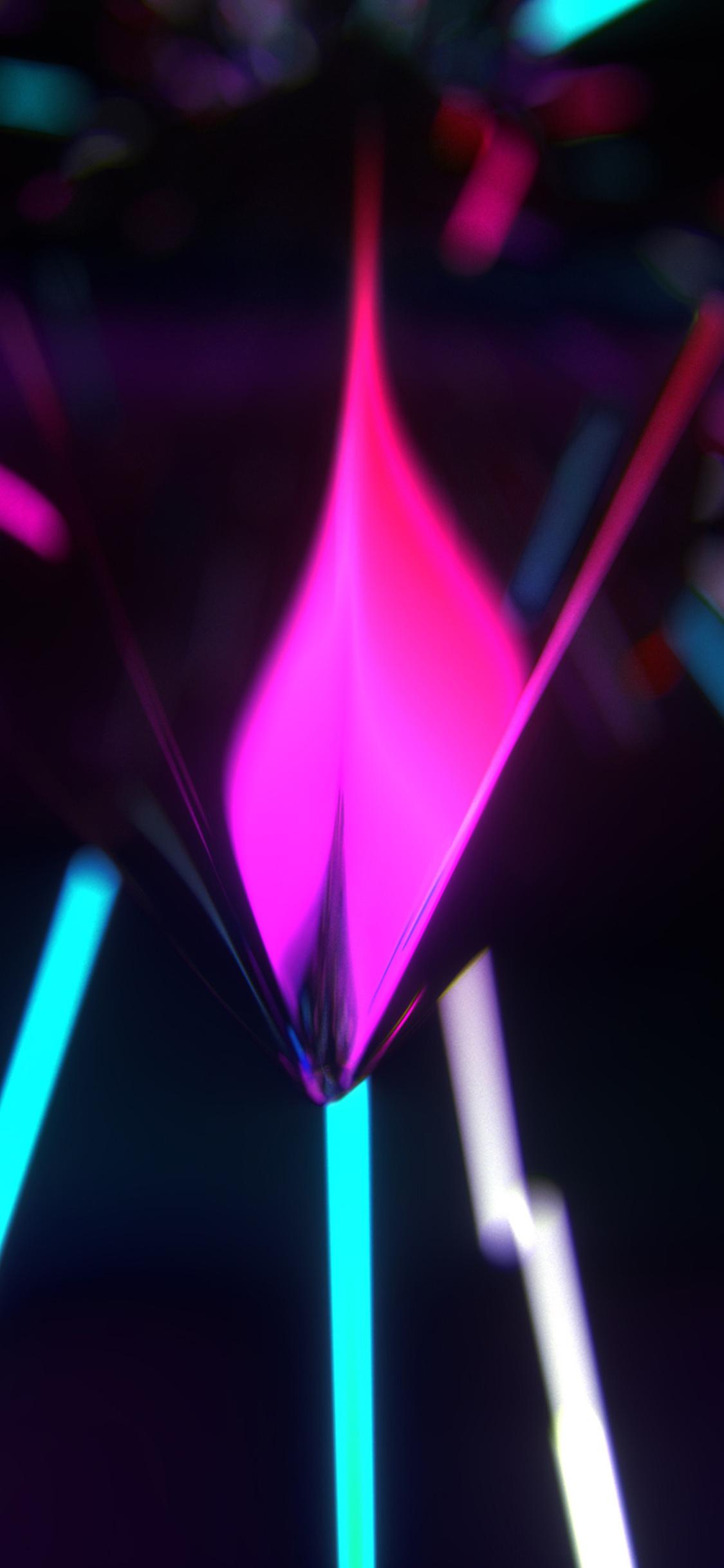 1125x2436 Neon Glow Abstract Iphone Xs Iphone 10 Iphone X Hd