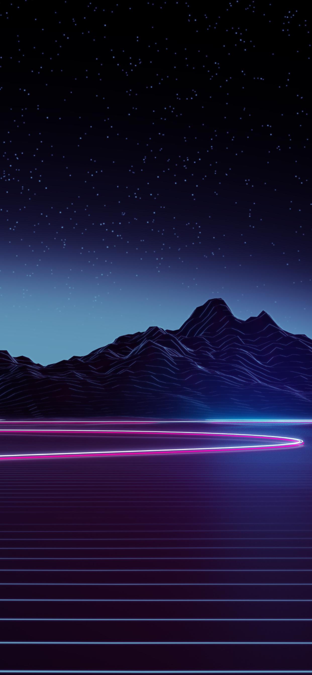 1242x2688 Neon Highway 4k Iphone XS MAX HD 4k Wallpapers ...