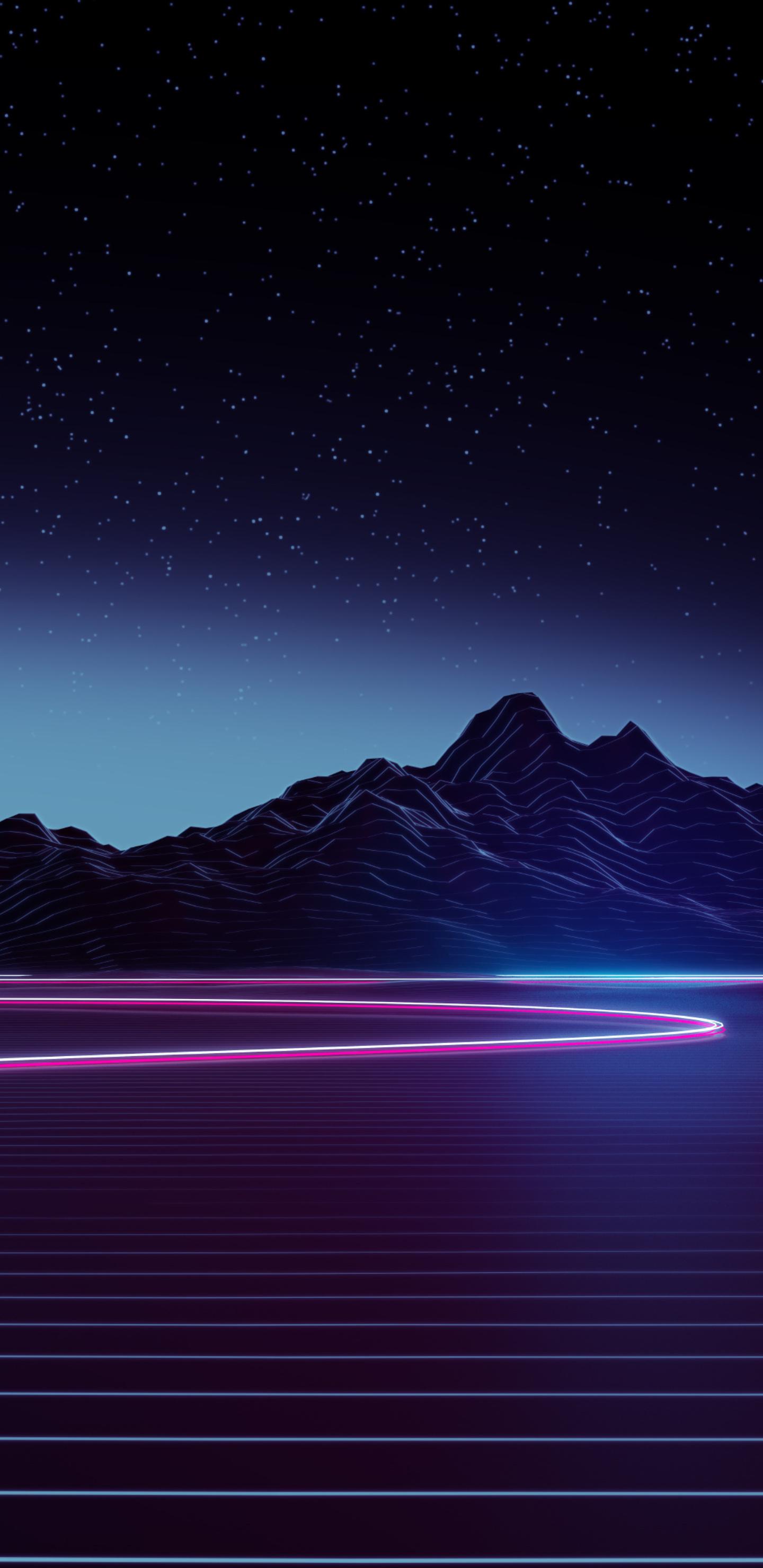1440x2960 Neon Highway 4k Samsung Galaxy Note 9,8, S9,S8 ...
