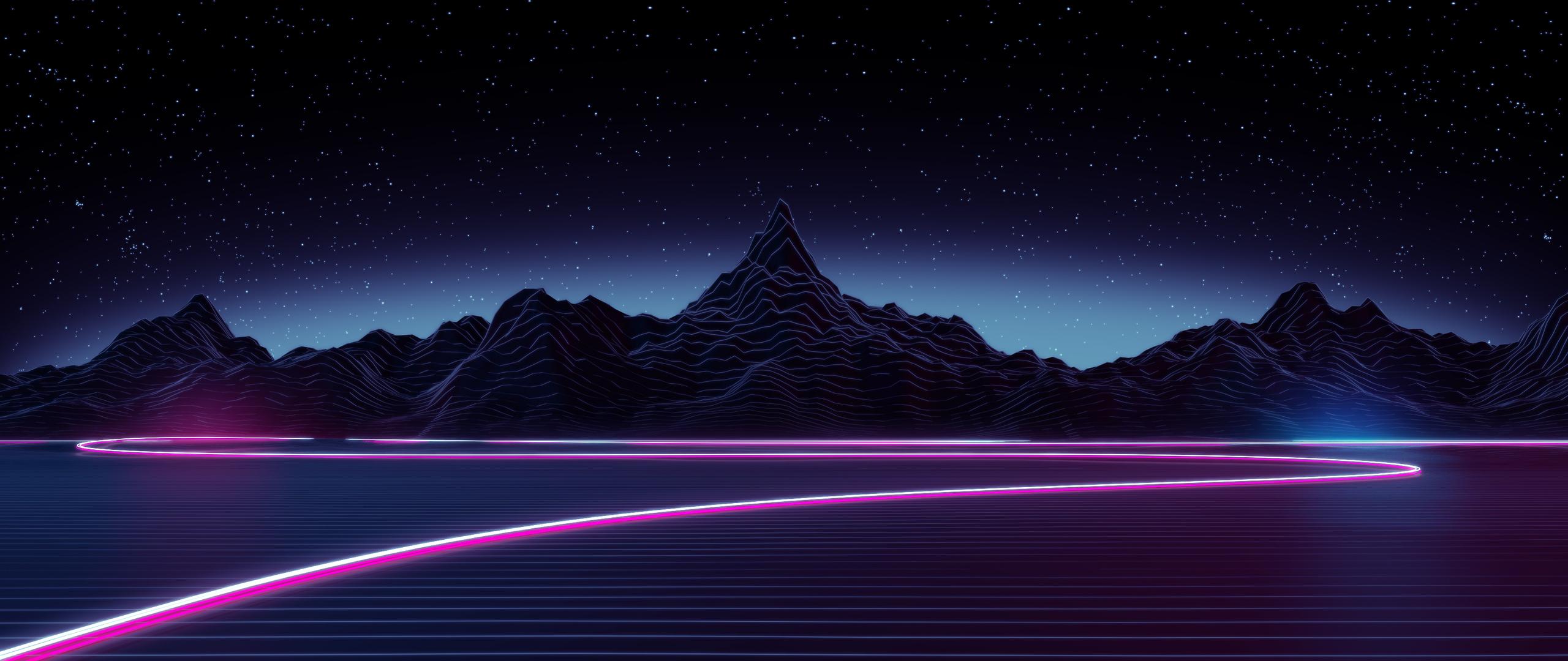 2560x1080 Neon Highway Digital Art 2560x1080 Resolution HD ...