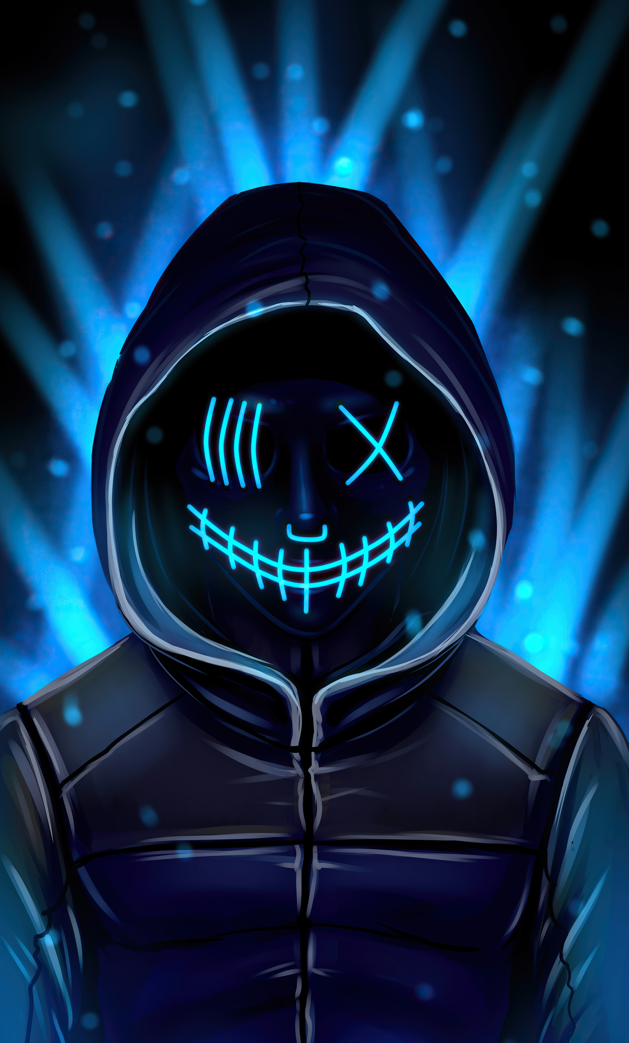 1280x2120 Neon Mask 4k Iphone 6 Hd 4k Wallpapers Images Backgrounds Photos And Pictures
