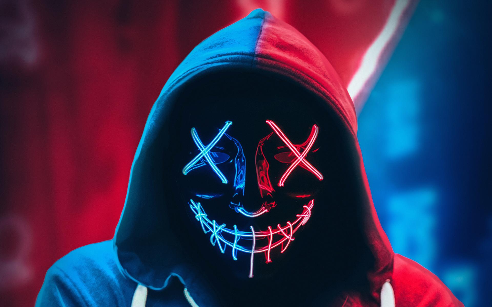 1920x1200 Neon Mask Hoodie 4k 1080P Resolution HD 4k ...