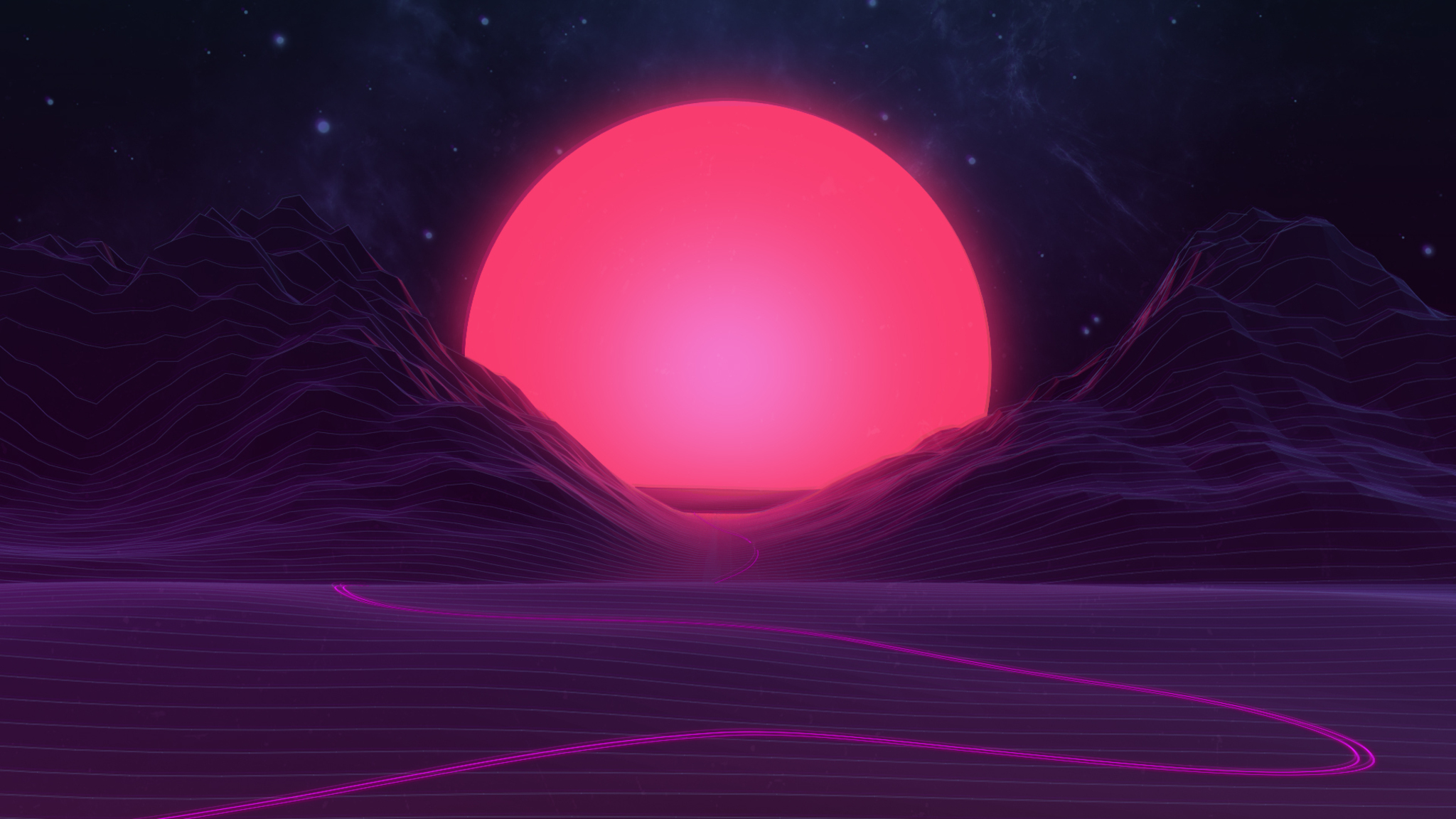 2048x1152 Neon Sunset 2048x1152 Resolution Hd 4k Wallpapers Images Backgrounds Photos And Pictures