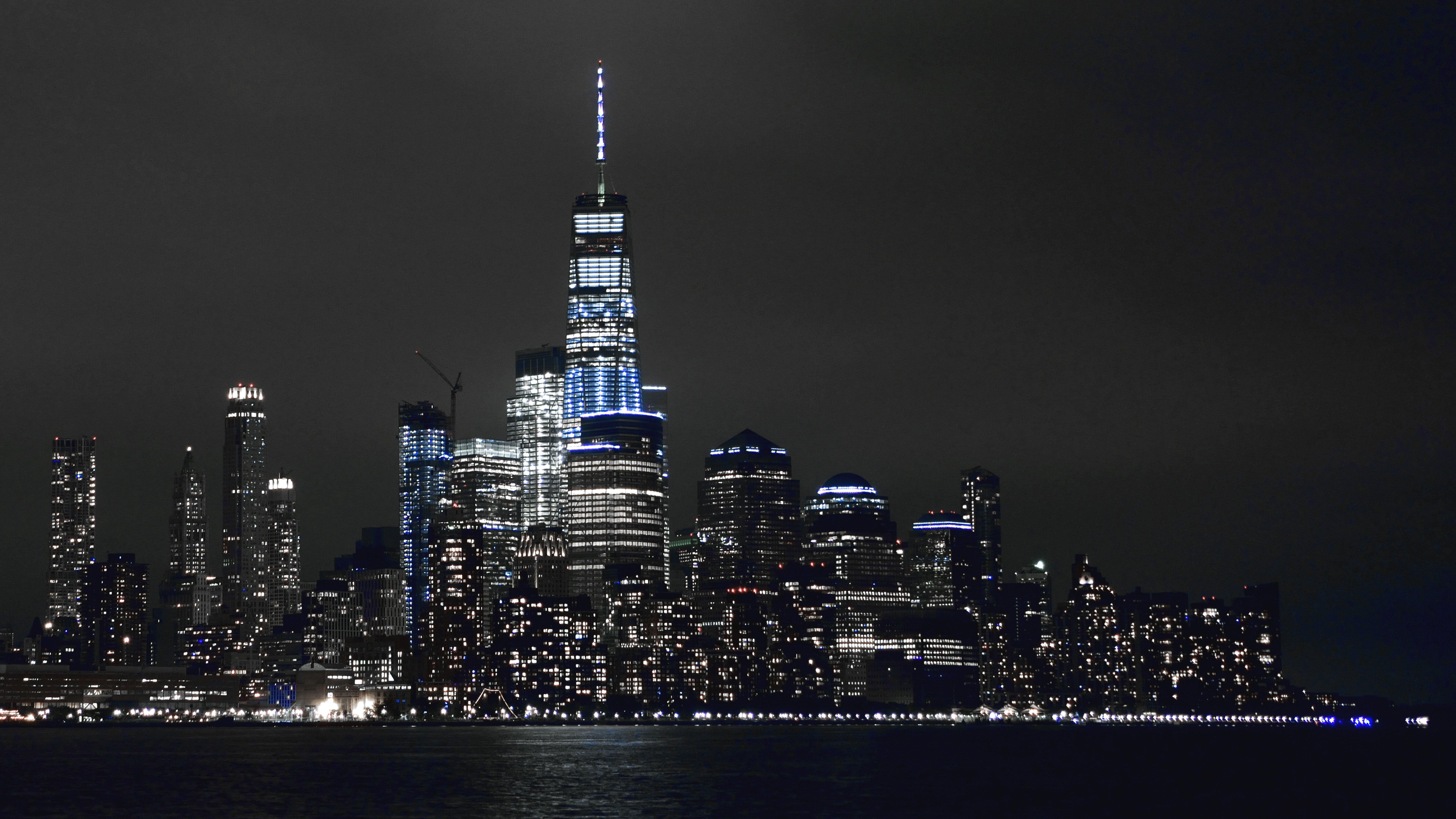 7680x4320 New York Buildings Lights 5k 8k HD 4k Wallpapers