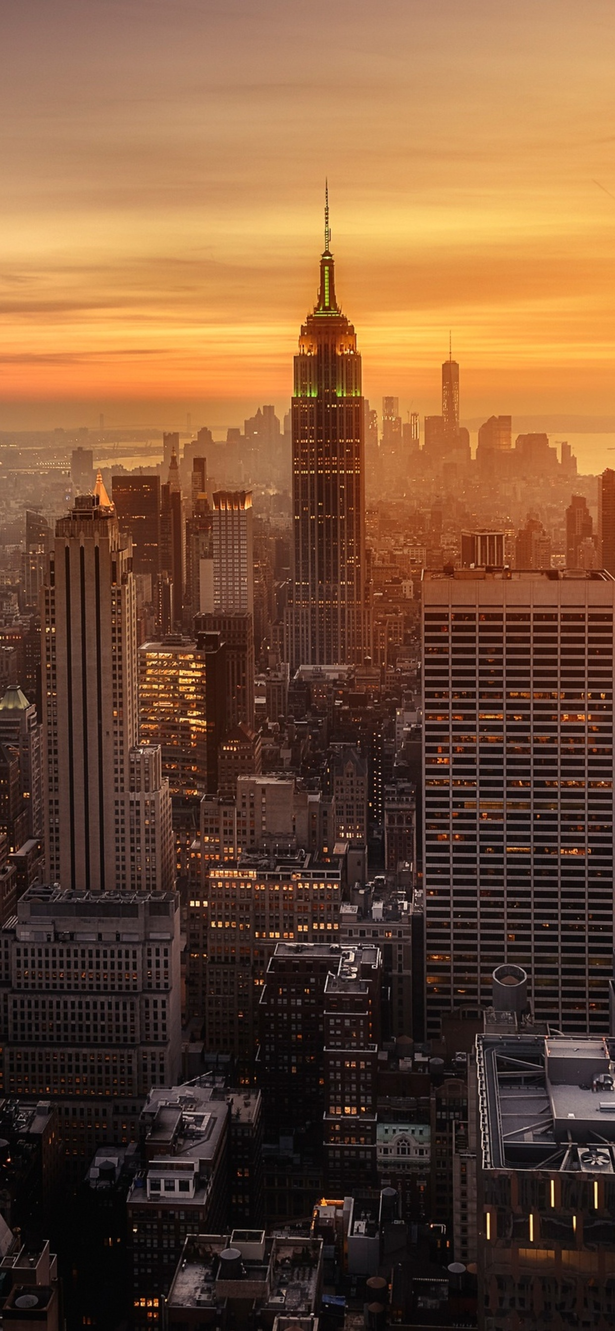 1242x2688 New York City Evening Time Iphone Xs Max Hd 4k