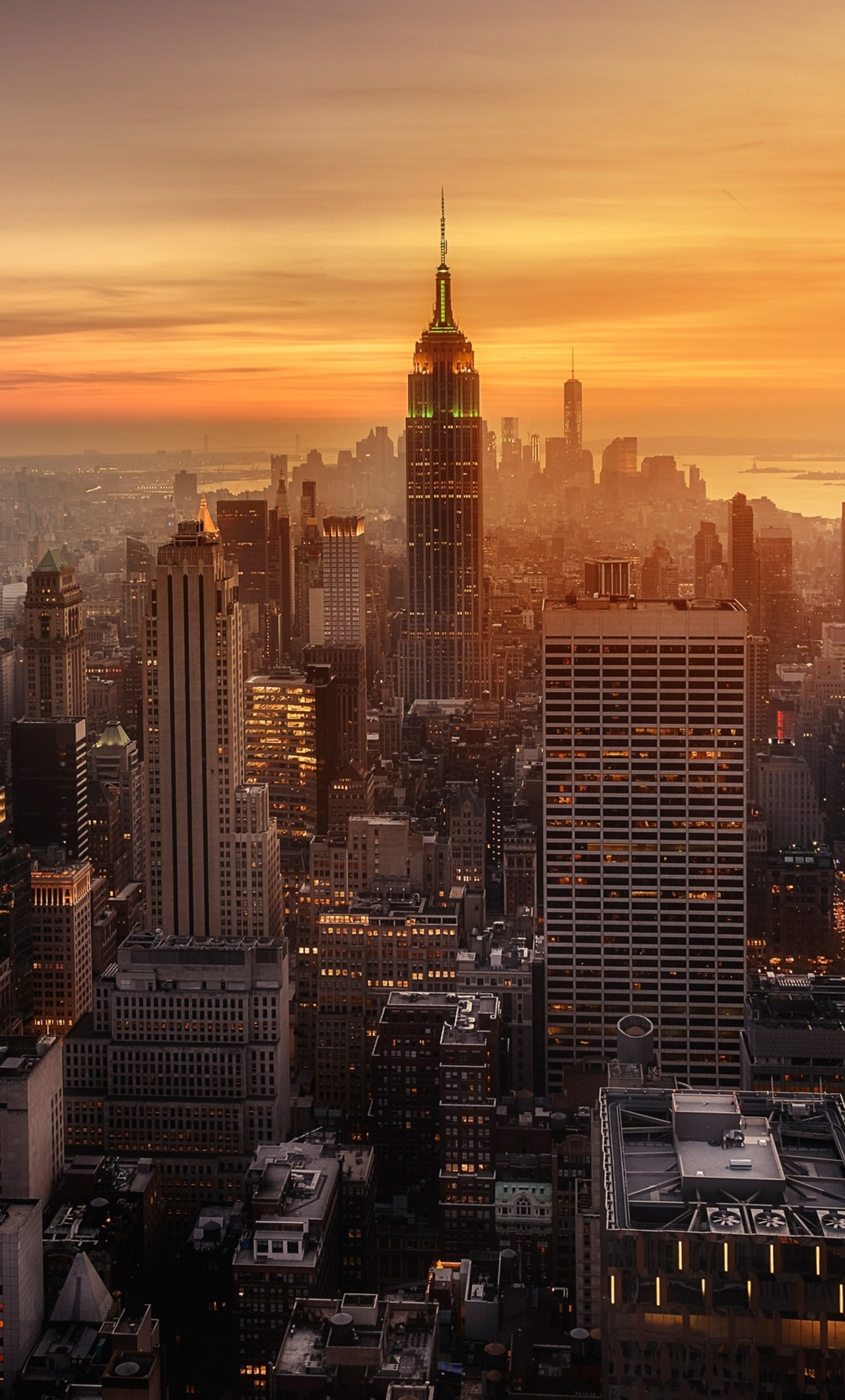 1280x2120 New York City Evening Time Iphone 6 Hd 4k Wallpapers Images Backgrounds Photos And Pictures