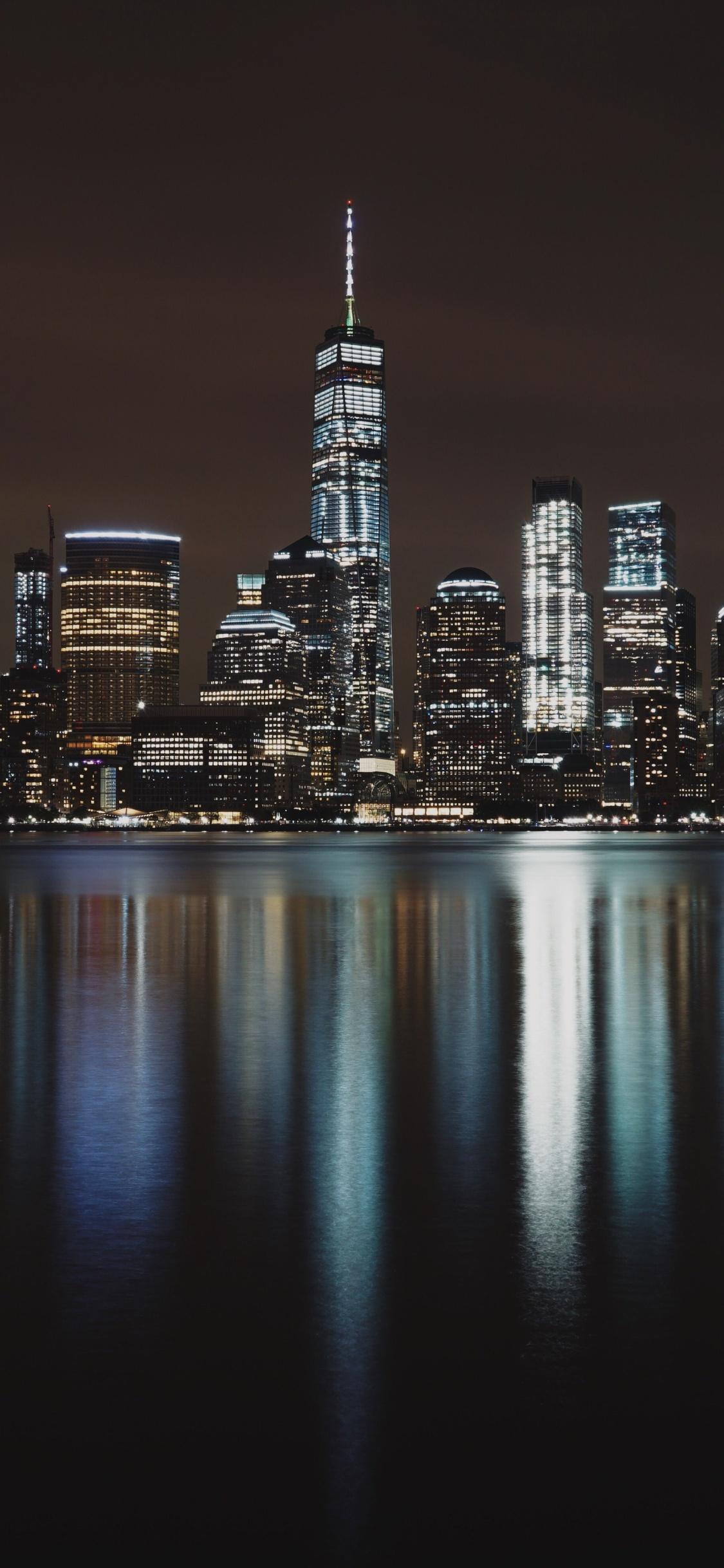 1125x2436 New York City Night Iphone Xs Iphone 10 Iphone X Hd 4k