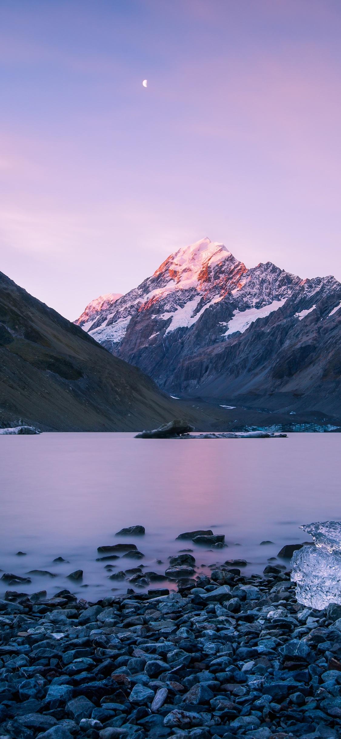 1125x2436 New Zealand Mountains Landscape Sky Ocean 5k