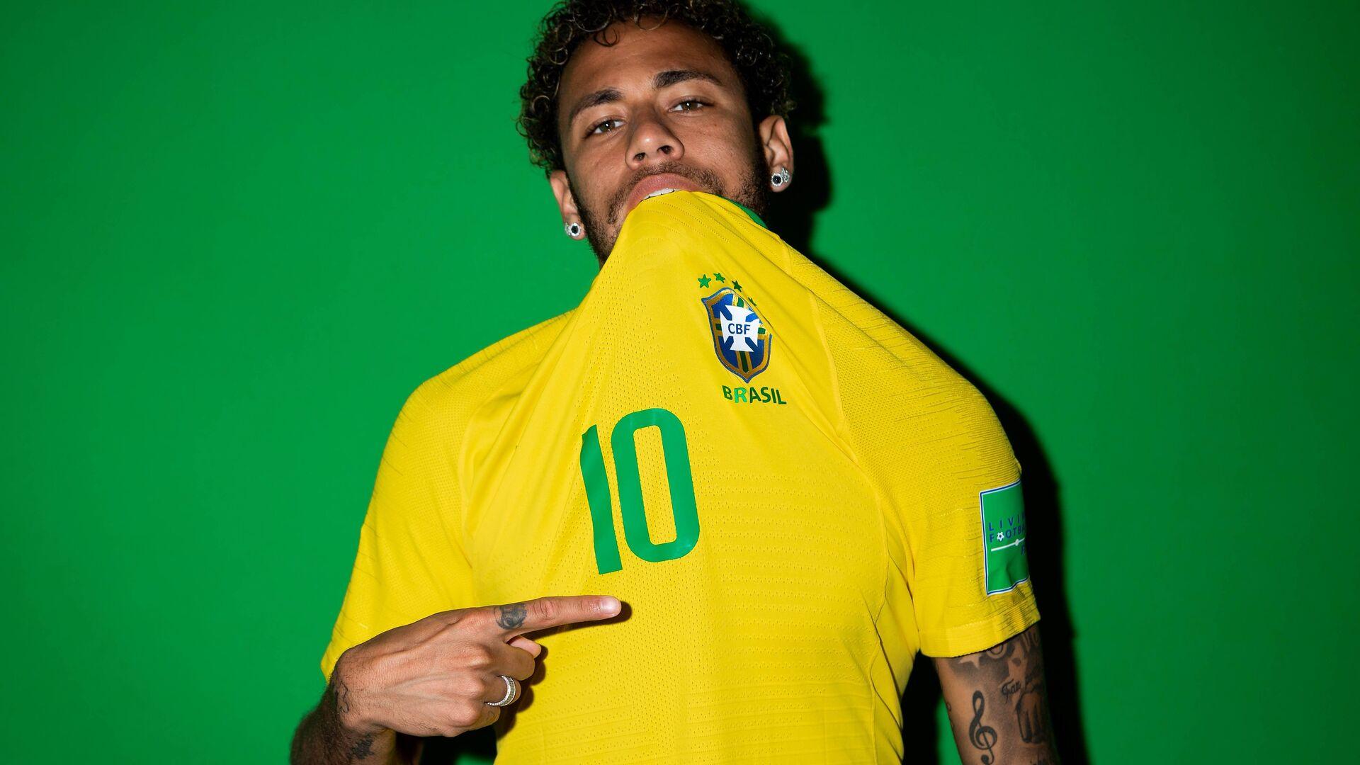 1920x1080 Neymar Jr Brazil Portraits 2018 Laptop Full HD ...