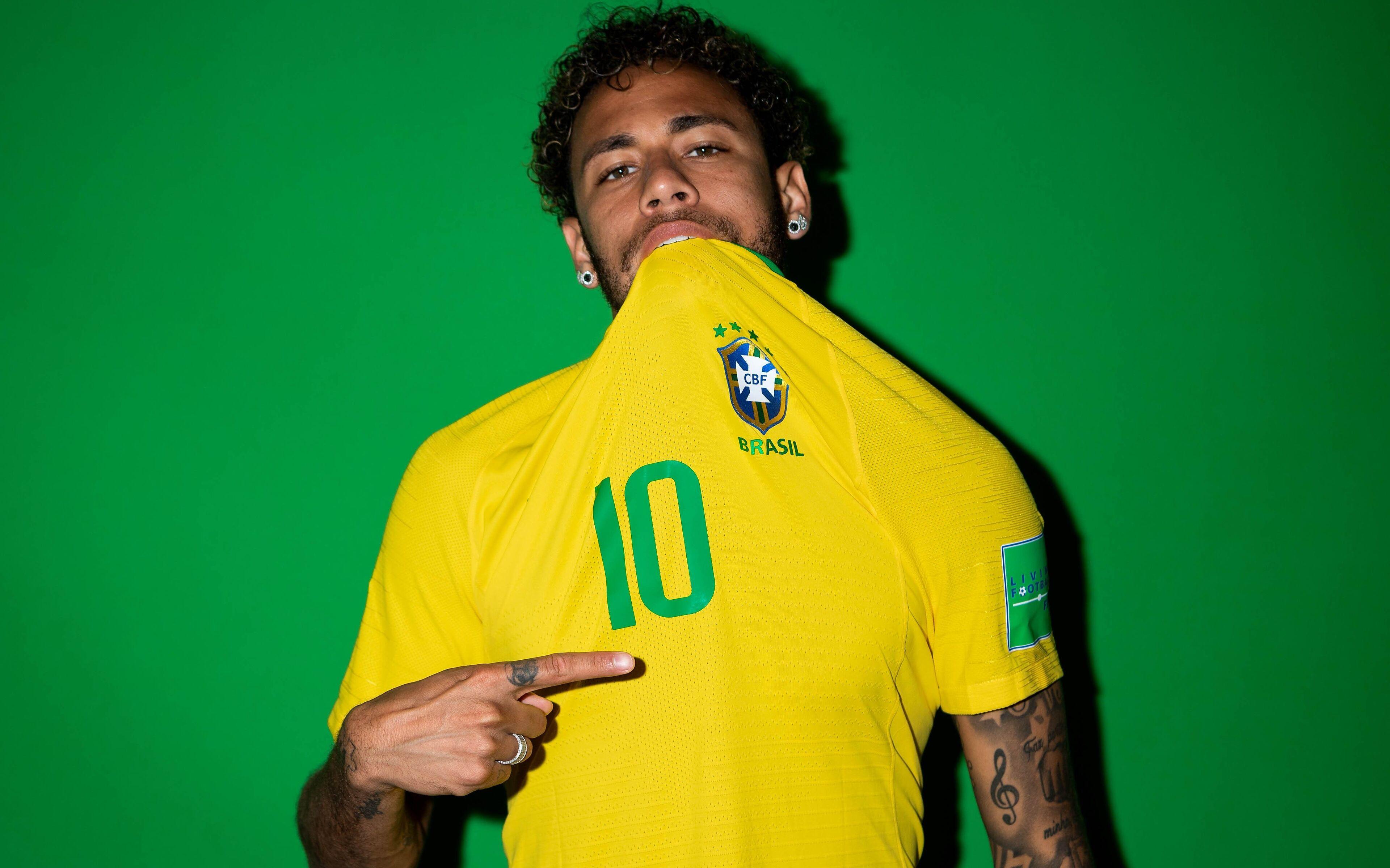 3840x2400 Neymar Jr Brazil Portraits 2018 4k Hd 4k Wallpapers