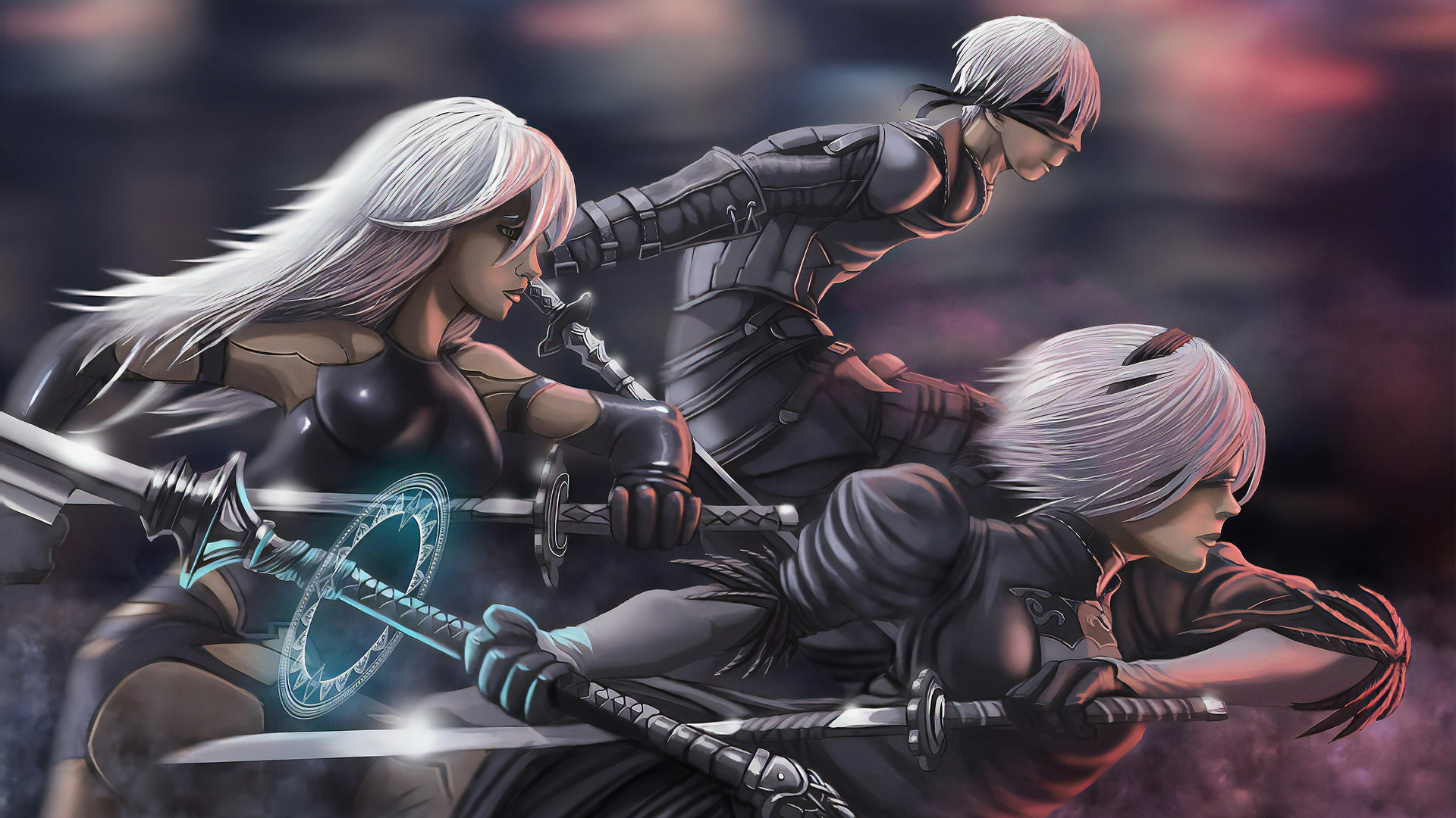 1920x1080 Nier Automata Team Laptop Full Hd 1080p Hd 4k Wallpapers Images Backgrounds Photos And Pictures