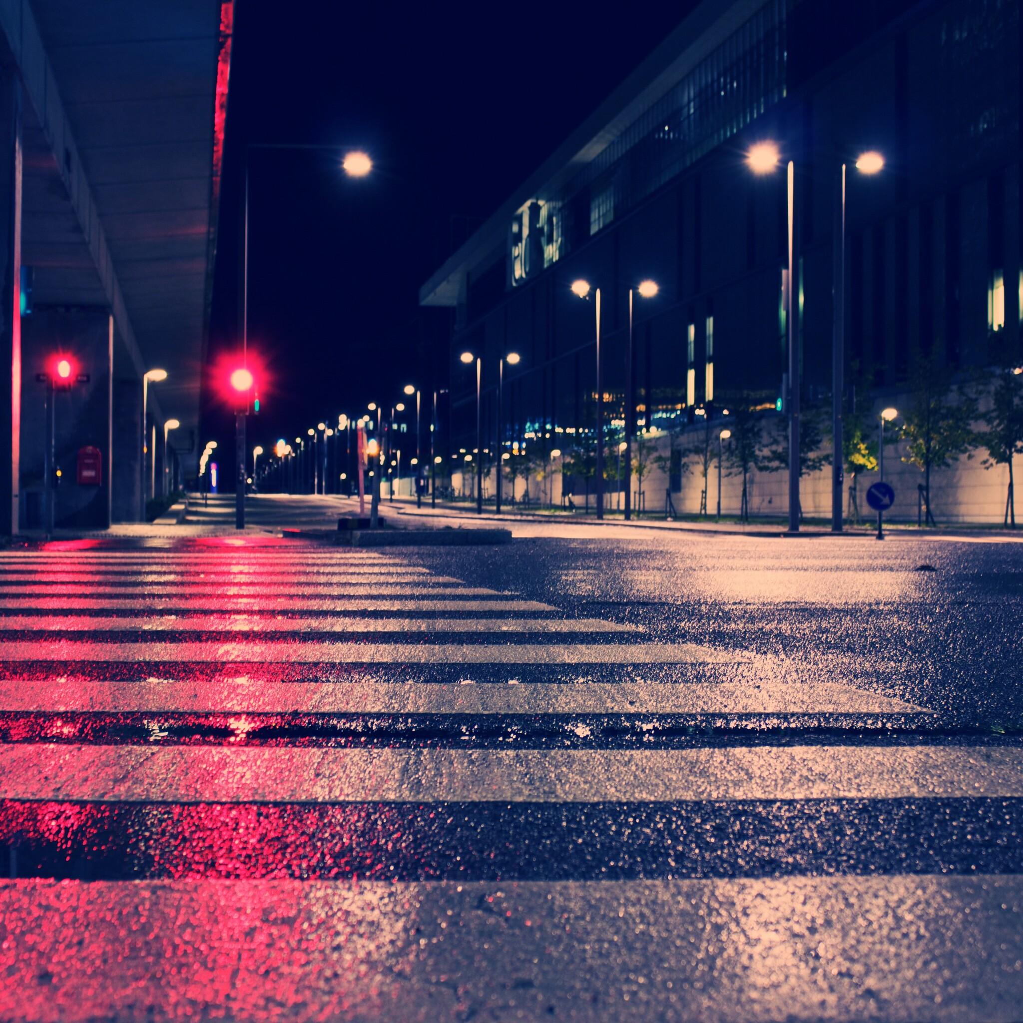 2048x2048 Night City Lights Street 4k Ipad Air HD 4k