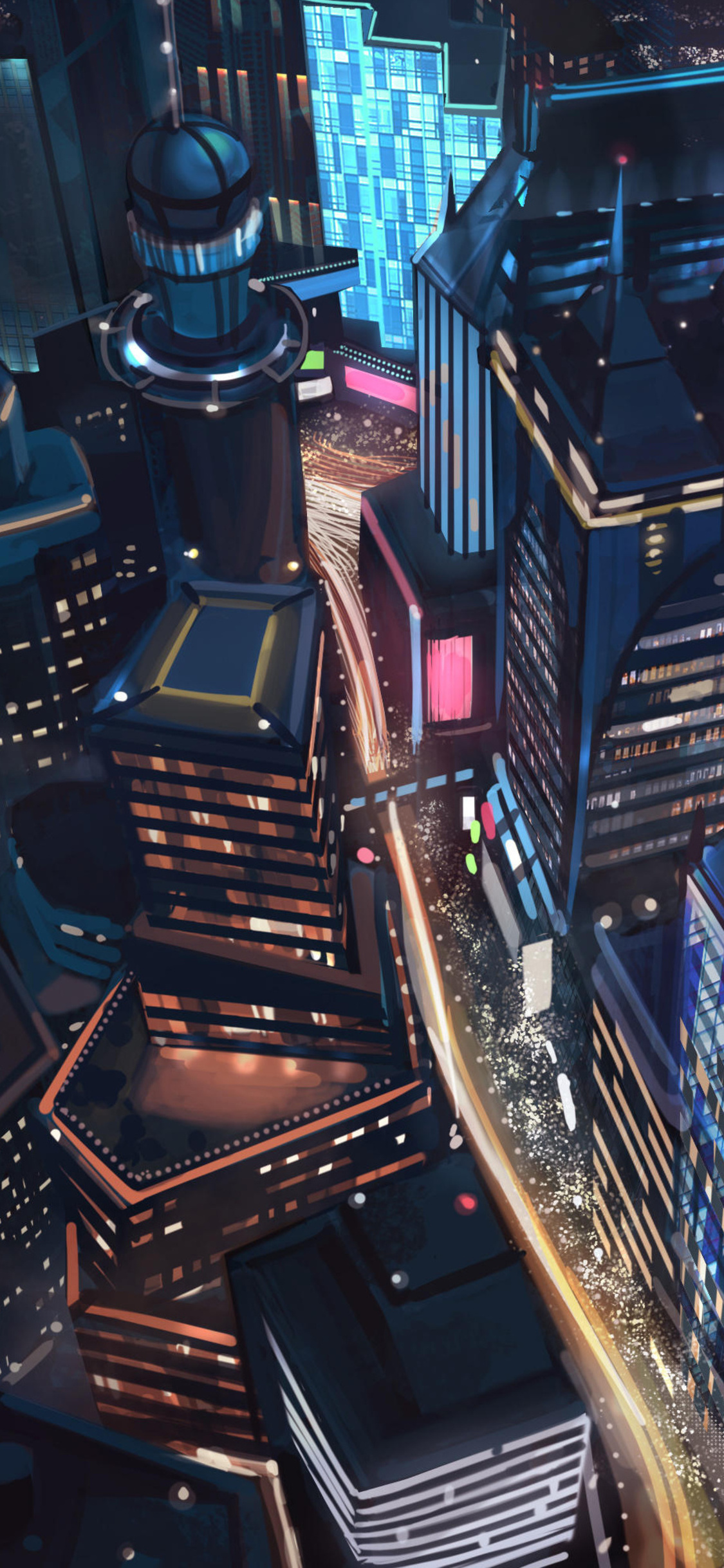 1125x2436 Night City Minimalist Iphone Xsiphone 10iphone X
