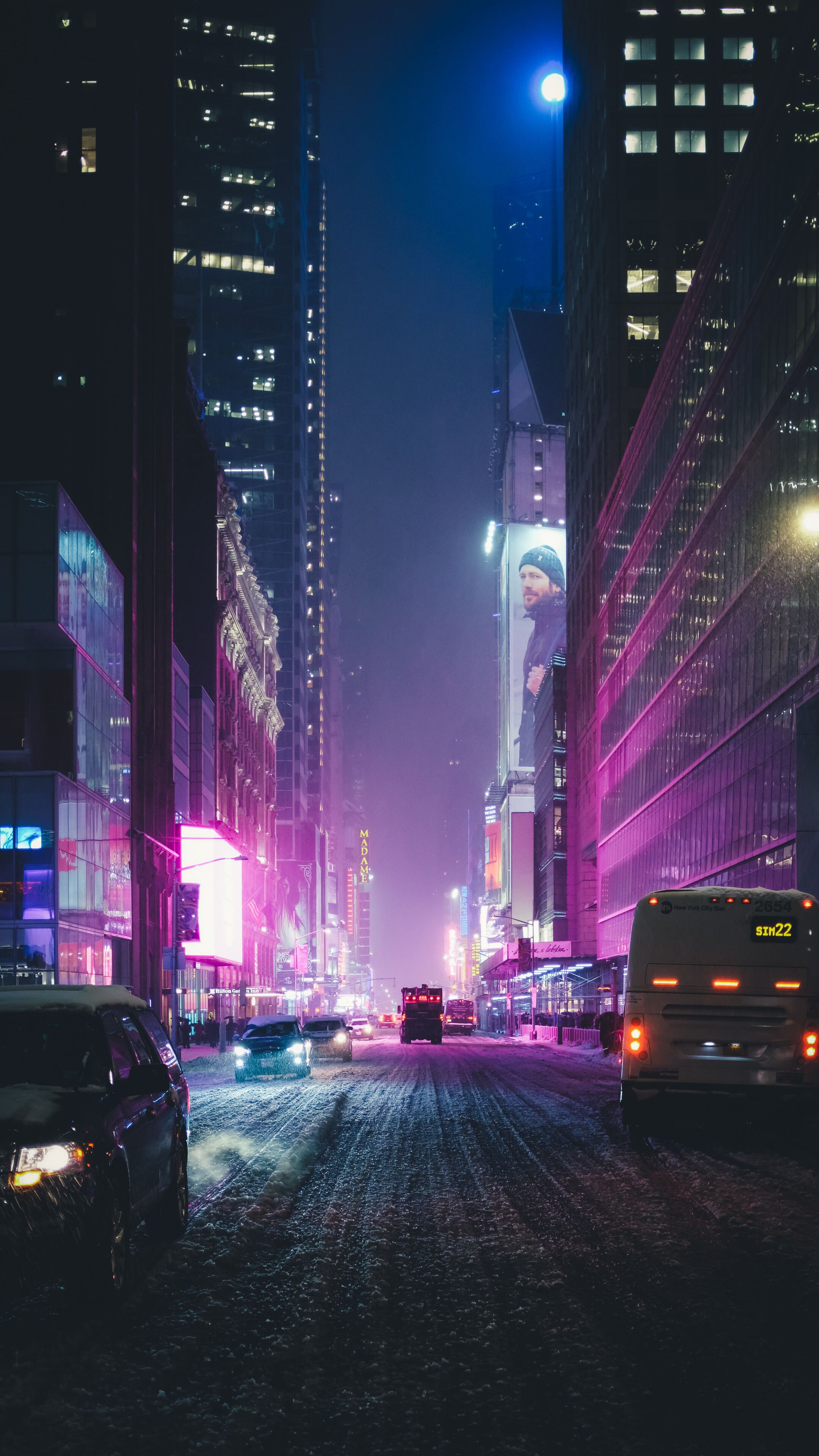 2160x3840 Night City Street Neon Lights 4k Sony Xperia Xxz