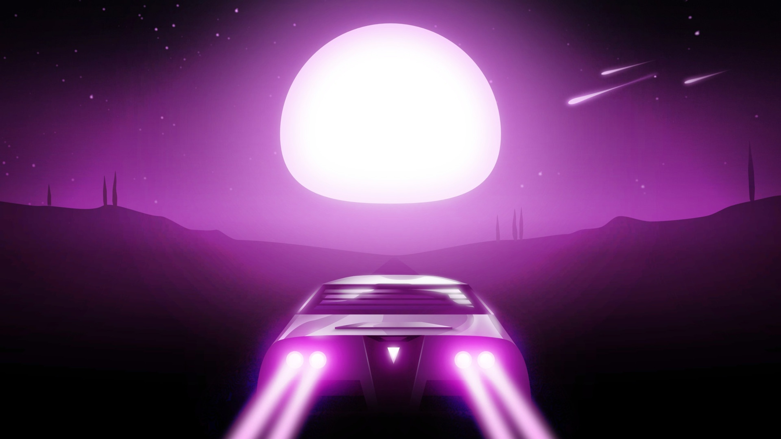 2560x1440 Night Drive Synthwave 1440P Resolution HD 4k ...
