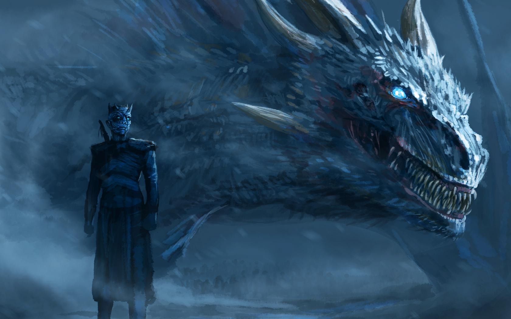 1680x1050 Playerunknowns Battlegrounds Artwork 1680x1050: 1680x1050 Night King Blue Eyes White Dragon 1680x1050